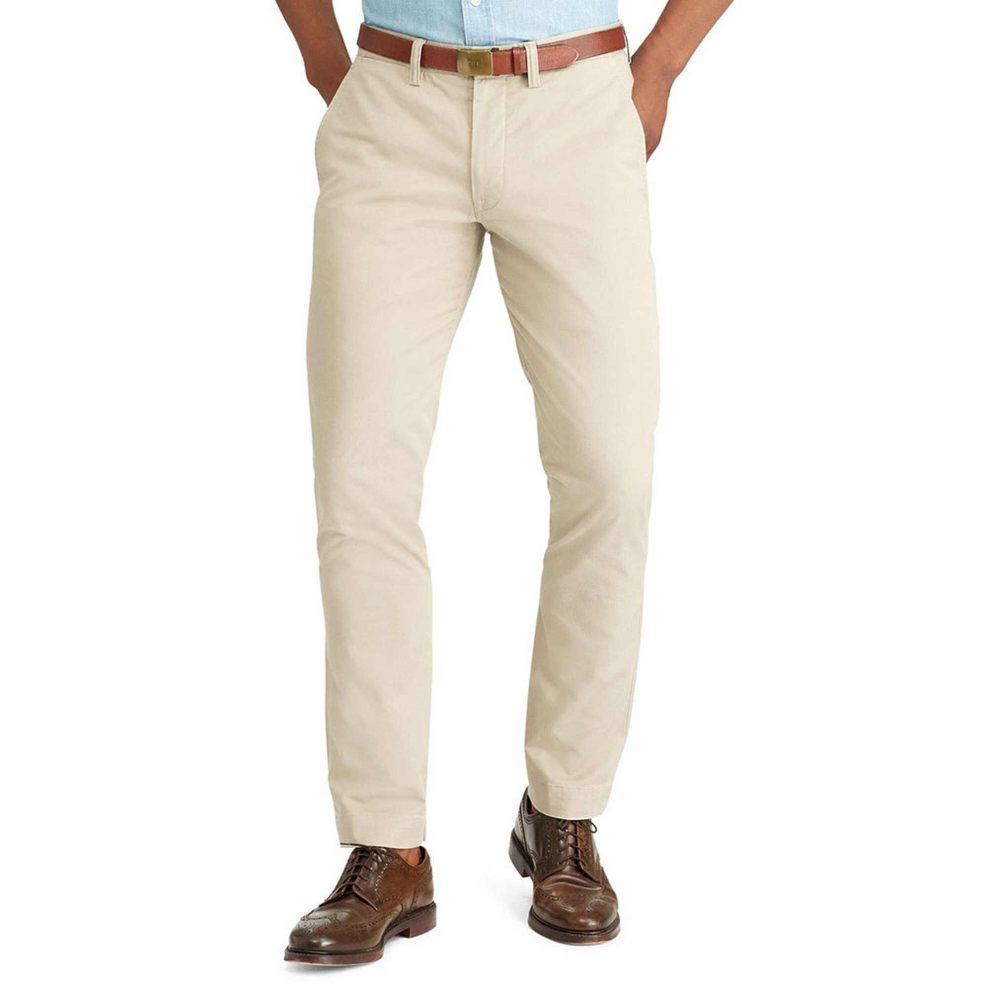 de20e7791a Polo Ralph Lauren Men's Bedford Straight Fit Pants in Khaki Tan