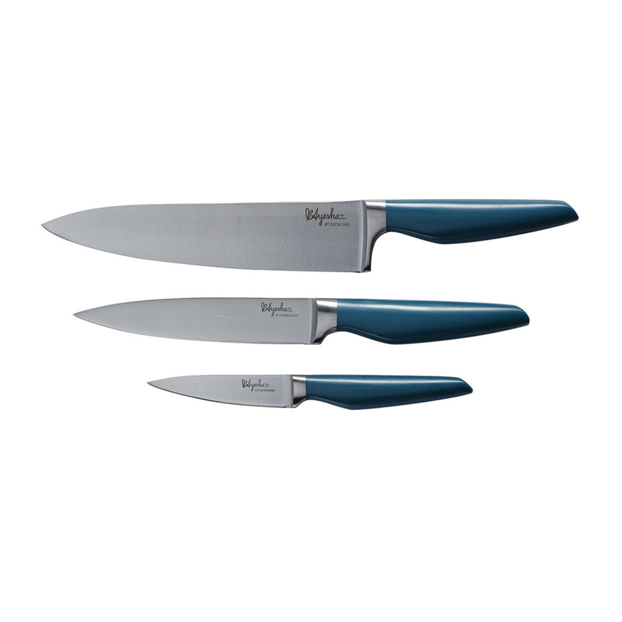 Ayesha Curry Home Collection 3 Piece Japanese Steel Cooking Knife
