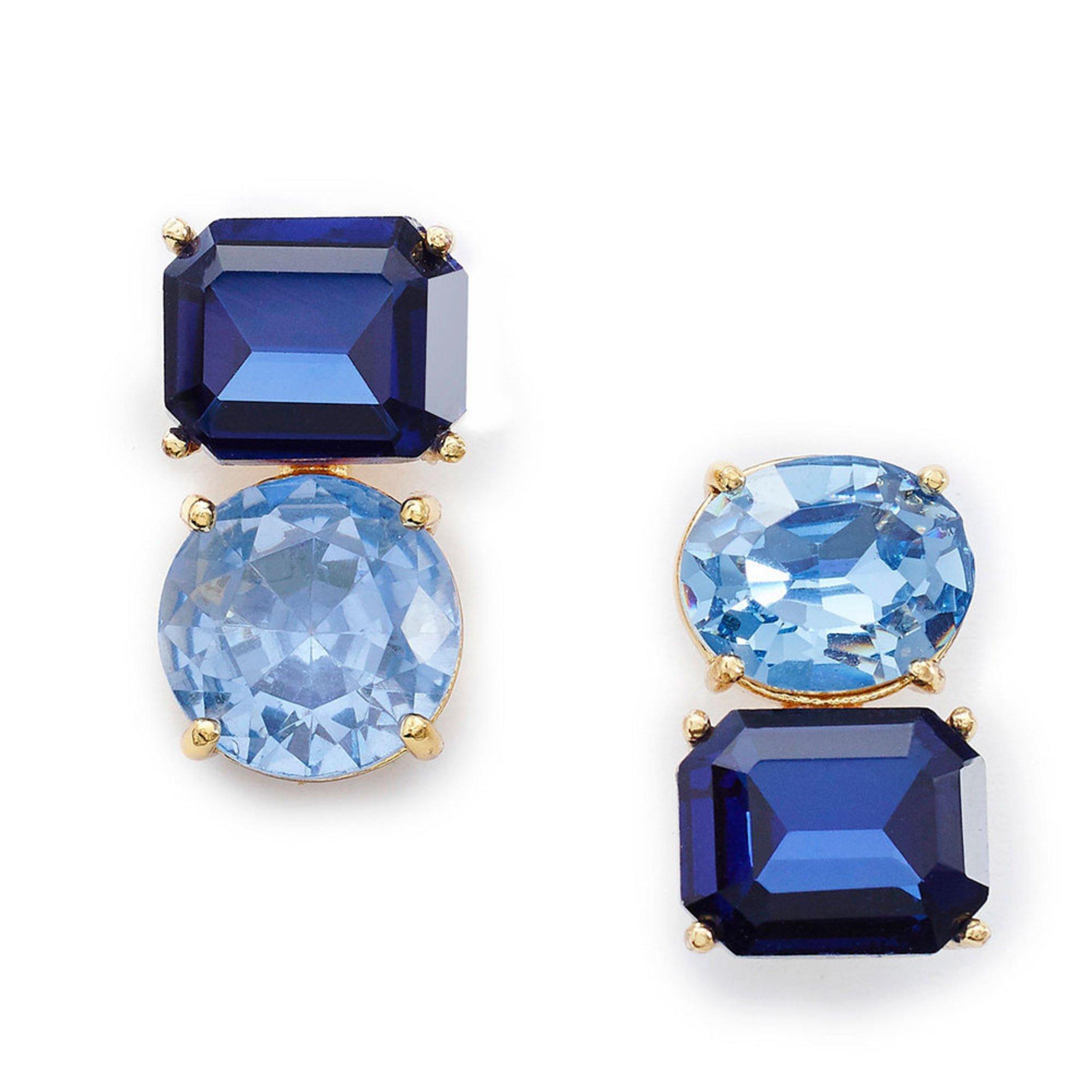 0f108613bf7d6 Kate Spade New York Bright Ideas Double Drop Asymmetrical Blue Multi ...