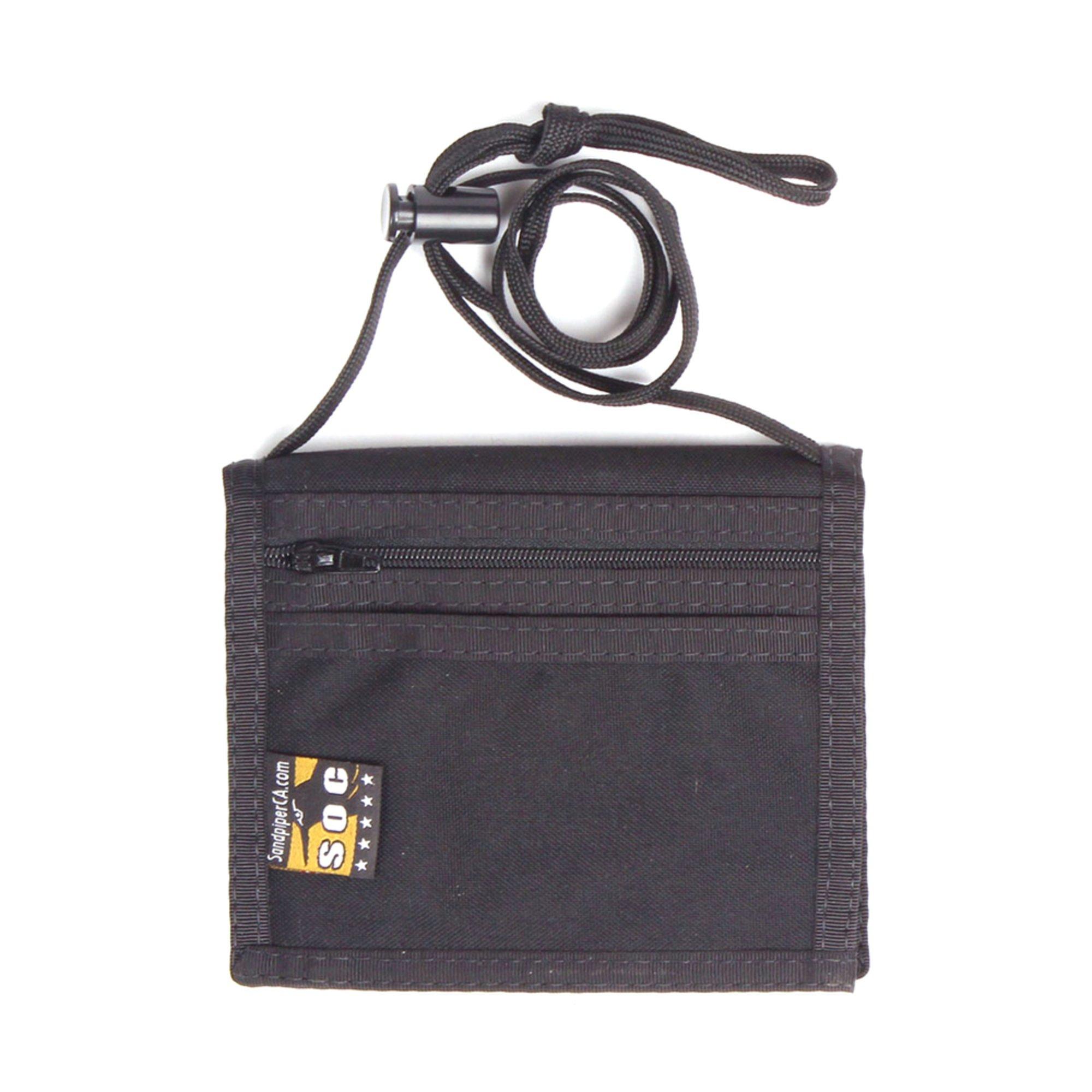 Sandpiper Of California Neck Bi-fold Id Wallet - Black