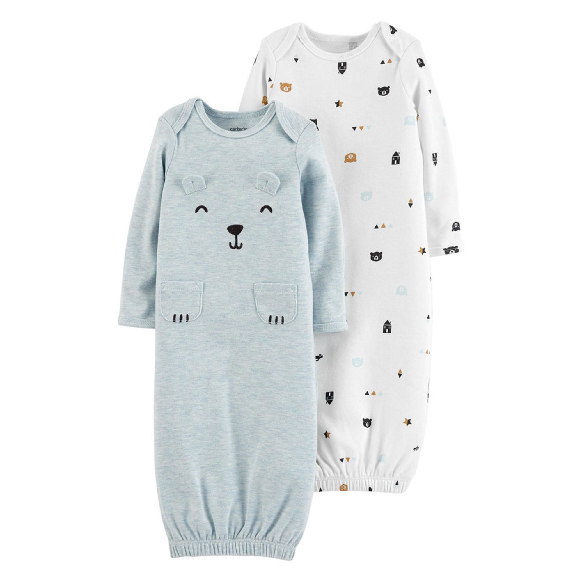 bde8330a2 Carter s Baby Boys  2-pack Gown Set