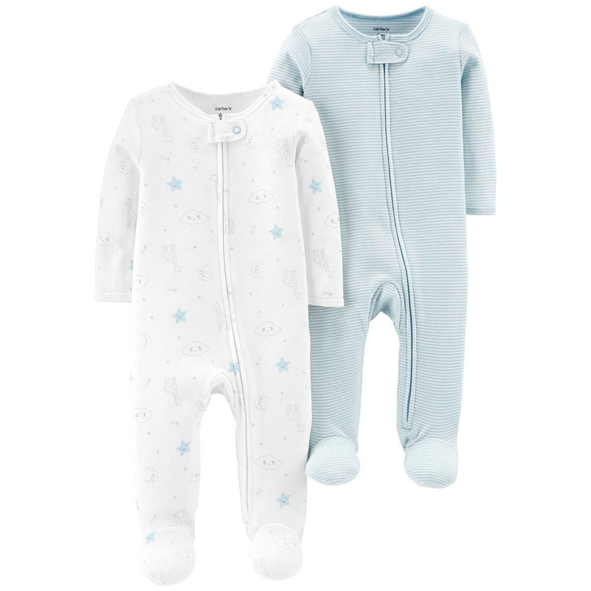 715e60809ddd Carter's Baby Girls' 2-piece Sleep N' Play Set | Baby Girls' Sets ...