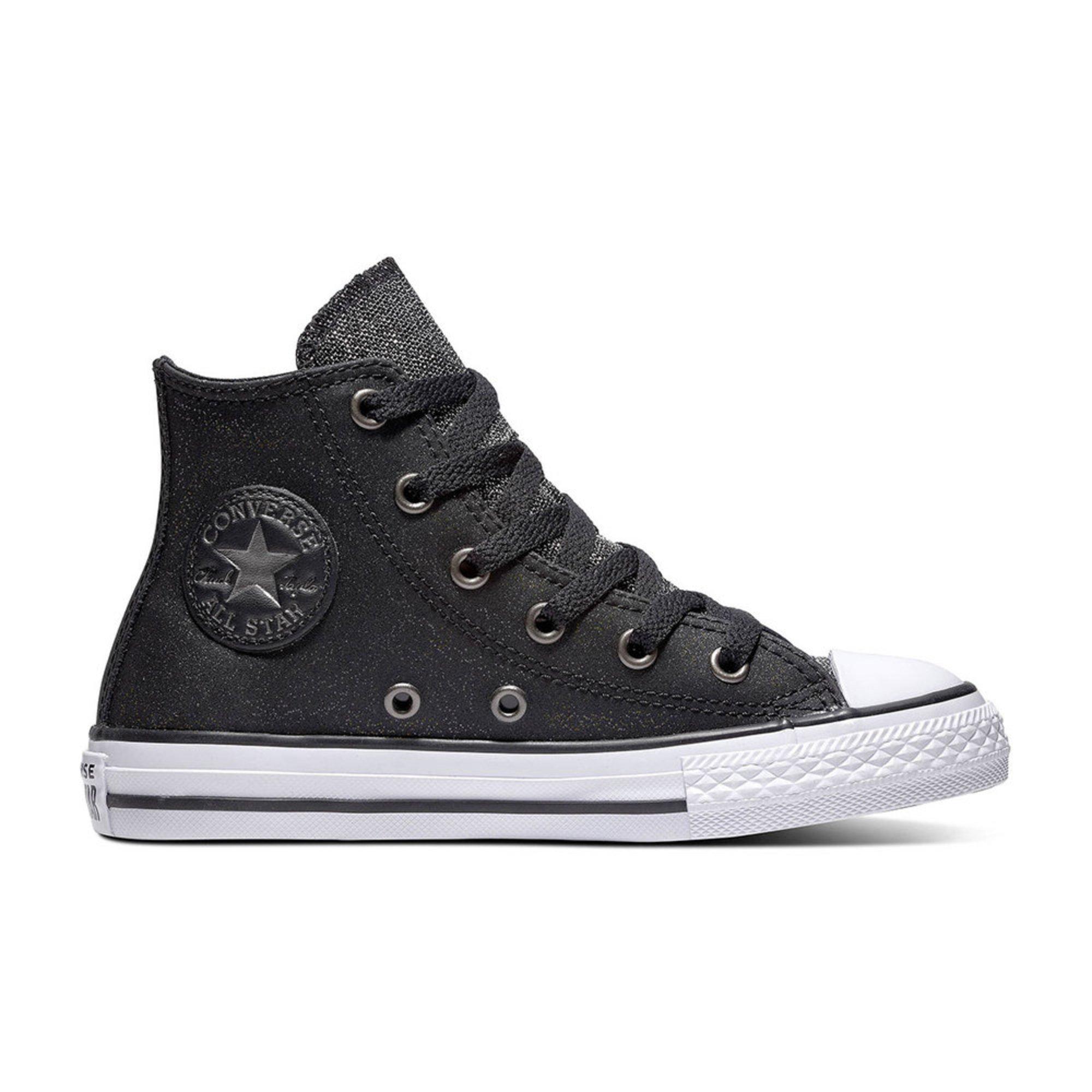89d628027bf1ce Converse Girls Chuck Taylor All Star Glitter Hi Top Sneaker (little ...
