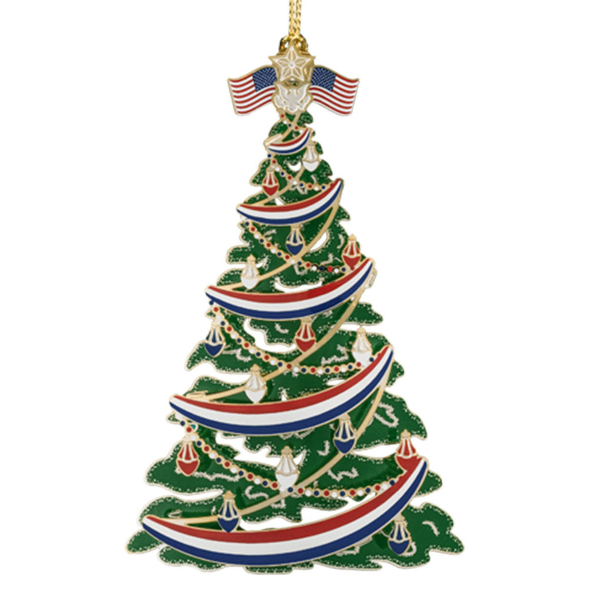 Chemart Classic Patriotic Christmas Tree Ornament | Navy Pride ...