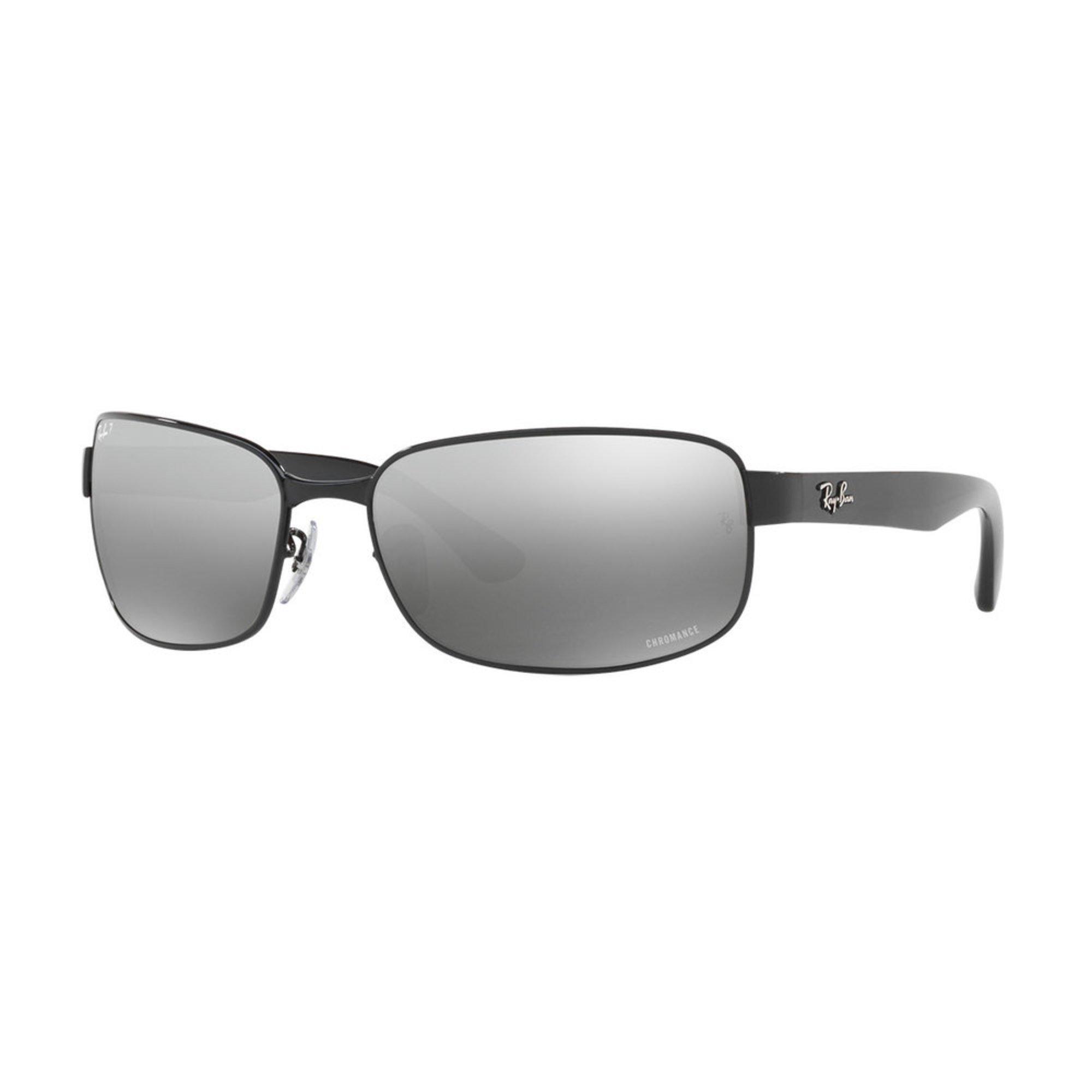 a1ee1d8f610 Ray-Ban. Ray-Ban Men s Rectangle Shiny Black Polarized Sunglasses 65mm