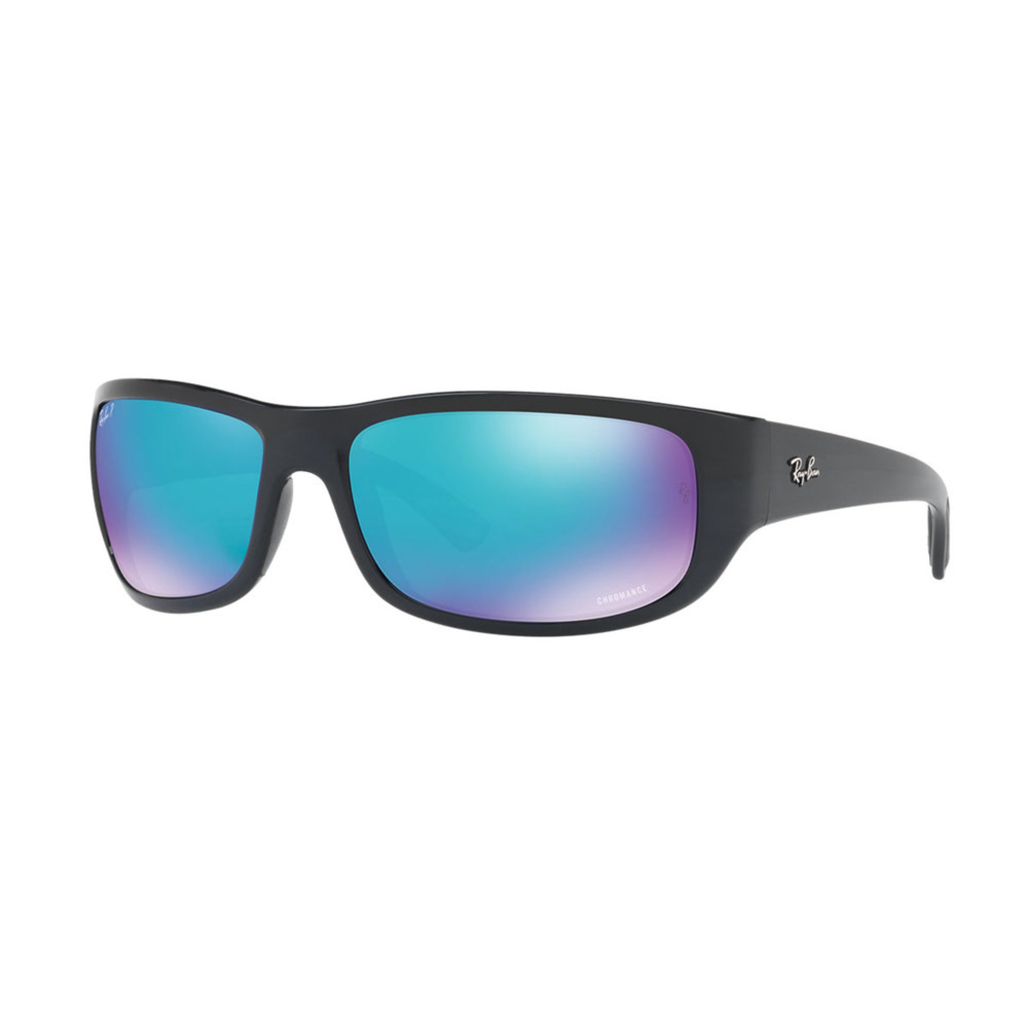 a557d644fc Ray-Ban. Ray-Ban Men s Rectangle Black Polarized Sunglasses 64mm