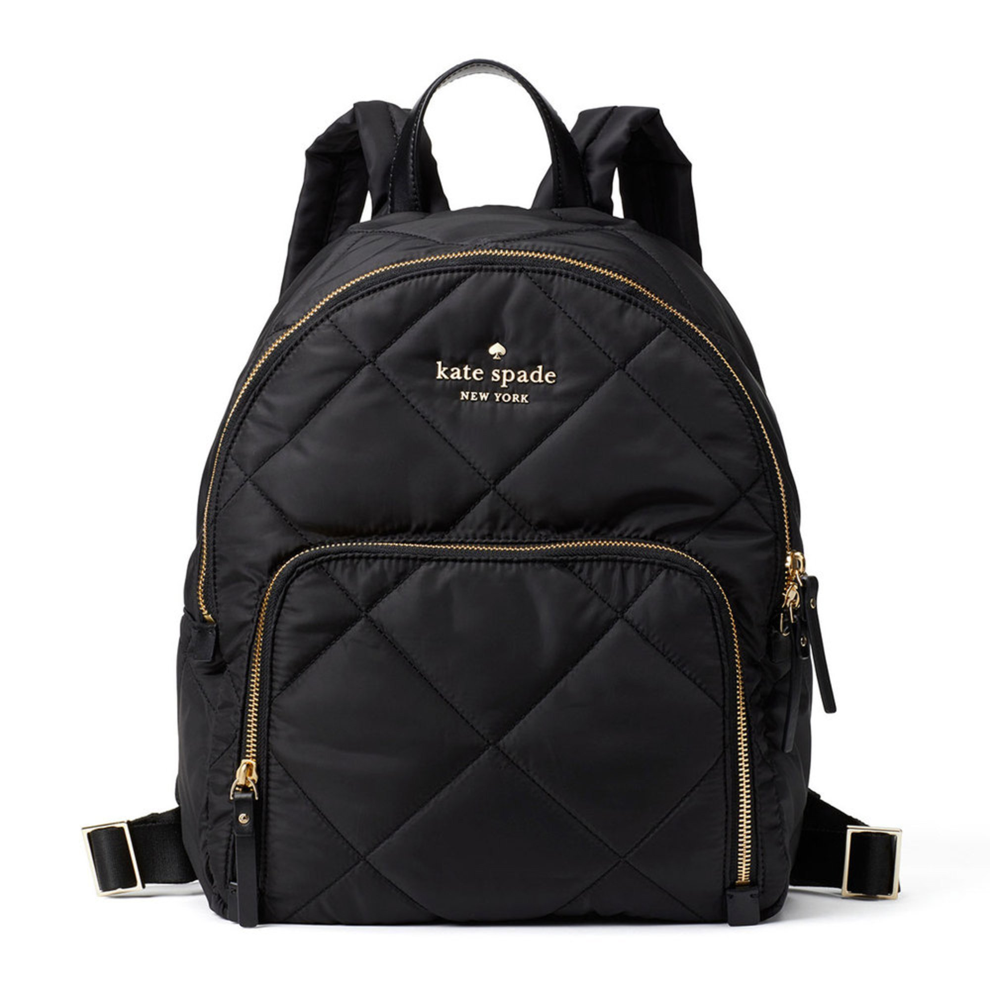 674d65393d6555 Kate Spade Watson Lane Quilted Hartley Backpack Black | Women's ...