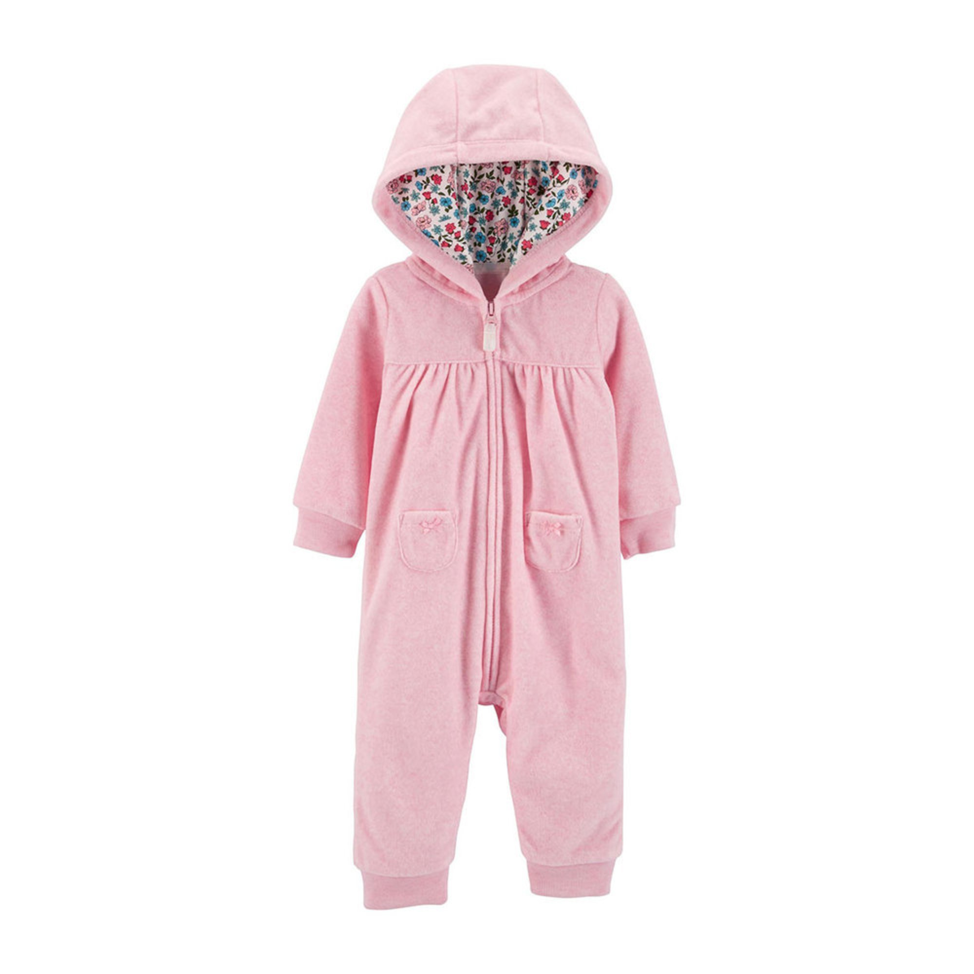 47baebc4e Carter s Baby Girls  Bear Hooded Fleece Romper