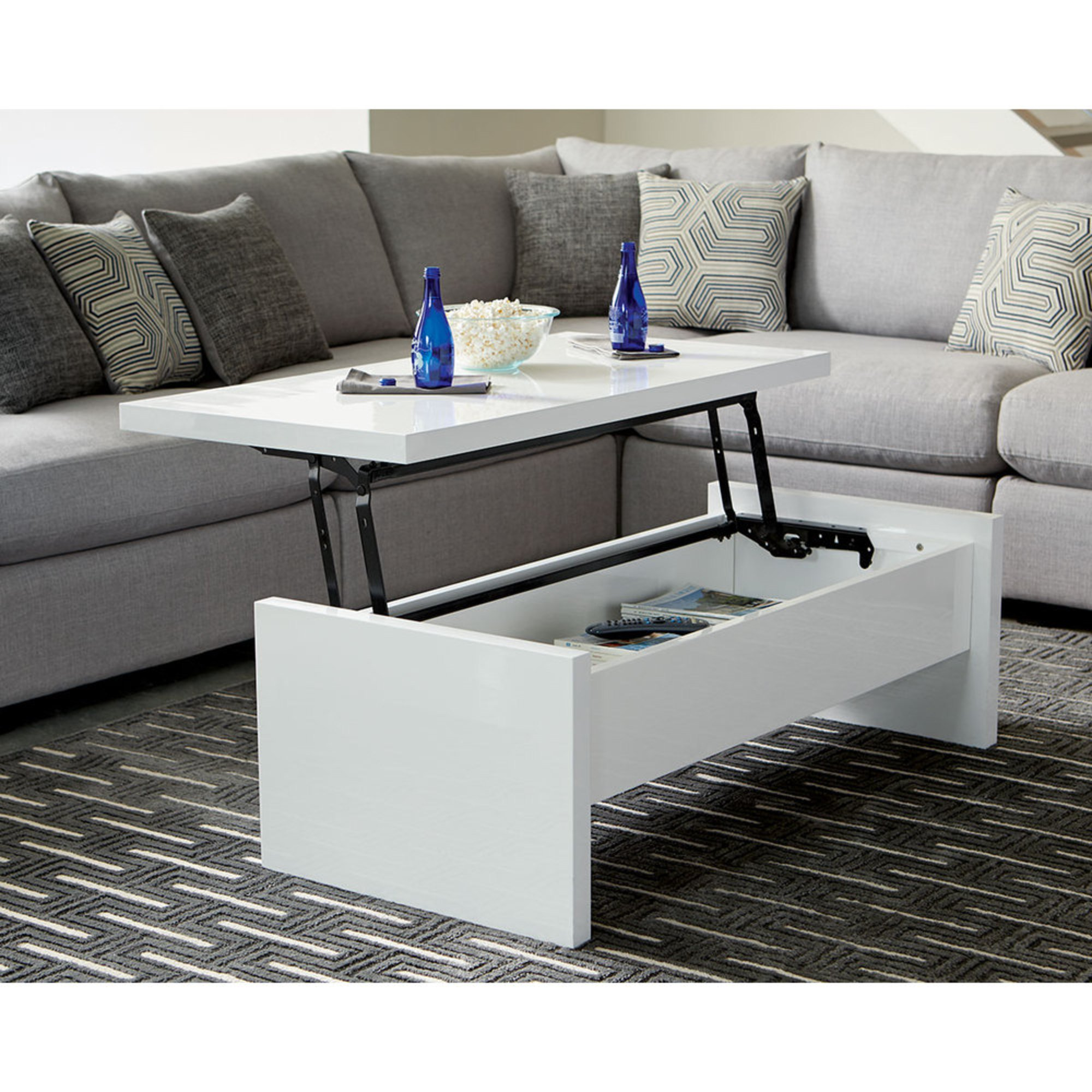 Scott Living Lift Top Coffee Table 721248 Coffee Cocktail