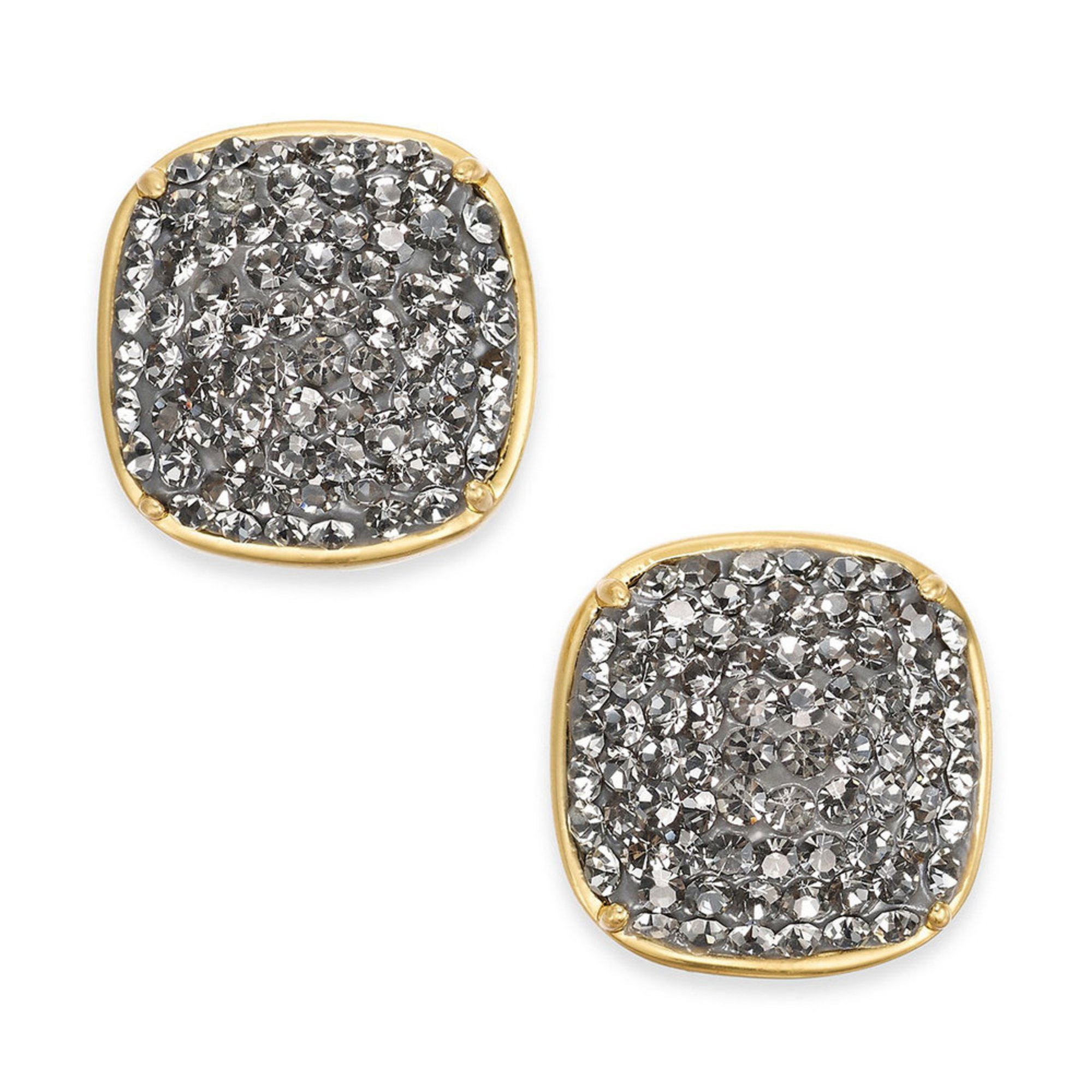 c38c32a1ad3753 Kate Spade New York. Kate Spade New York Black Diamond Clay Pave Small  Square Stud Earrings, Gold Tone