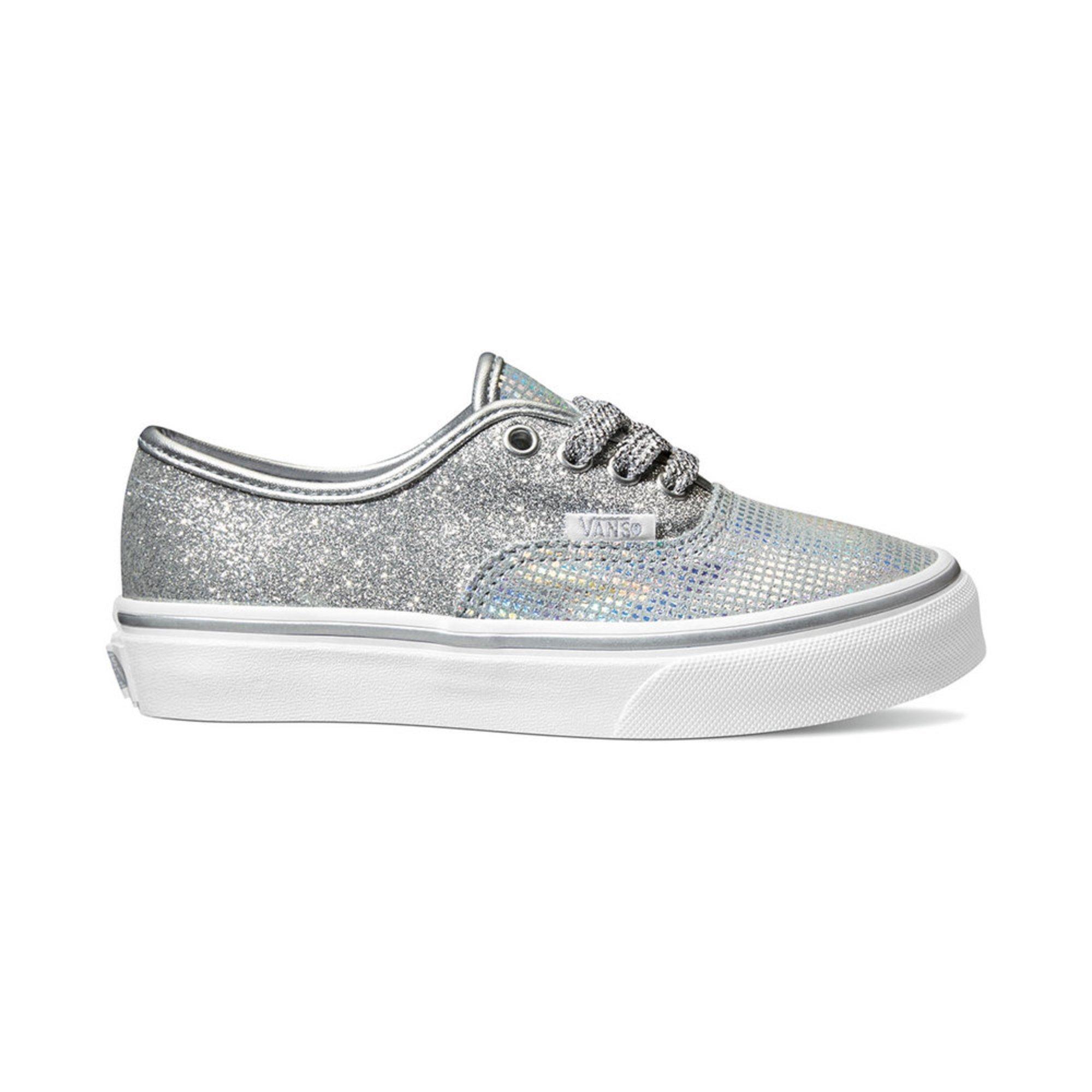 Vans. Vans Girls Authentic Metallic Glitter Skate Shoe (Little Kid) 2149287d4