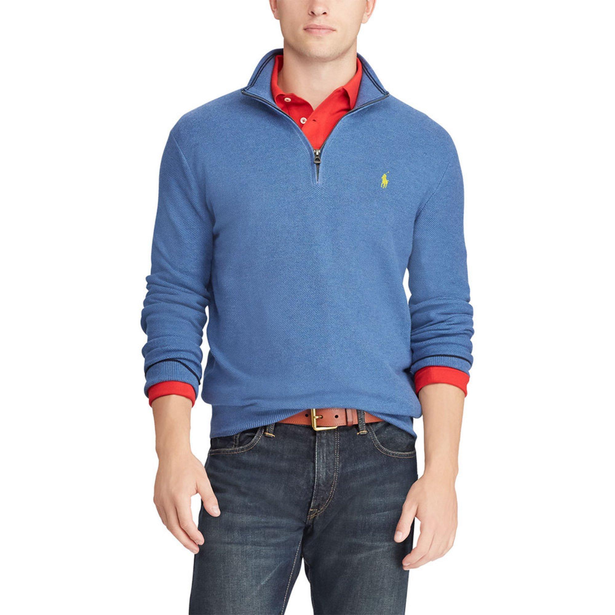 98f47a847 Polo Ralph Lauren Men s 1 2 Zip Pima Cotton Sweater