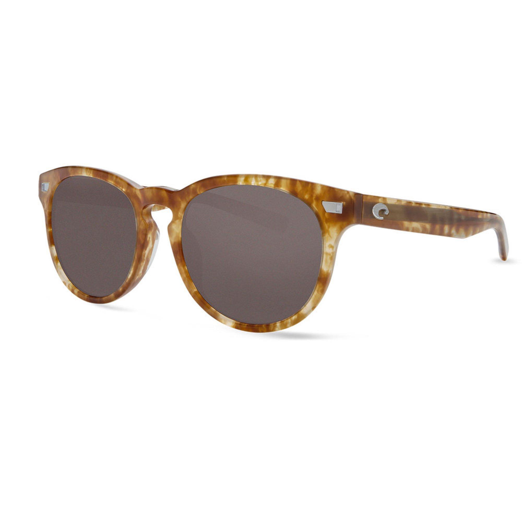 408345a01ce55 Costa Del Mar Unisex Gray Lens Shiny Kelp Frame Polarized Sunglasses 53mm
