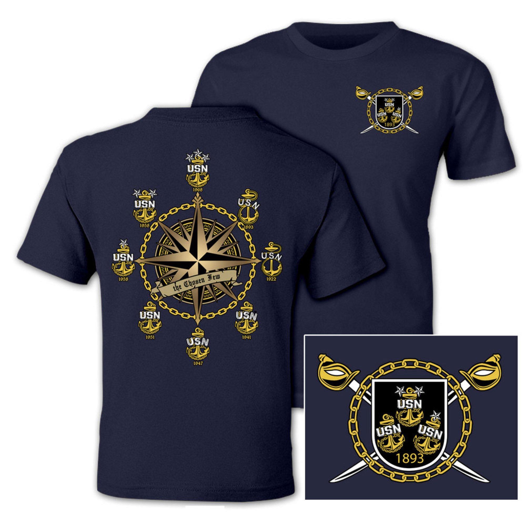 Anchor Navy Adult Mens T-Shirt