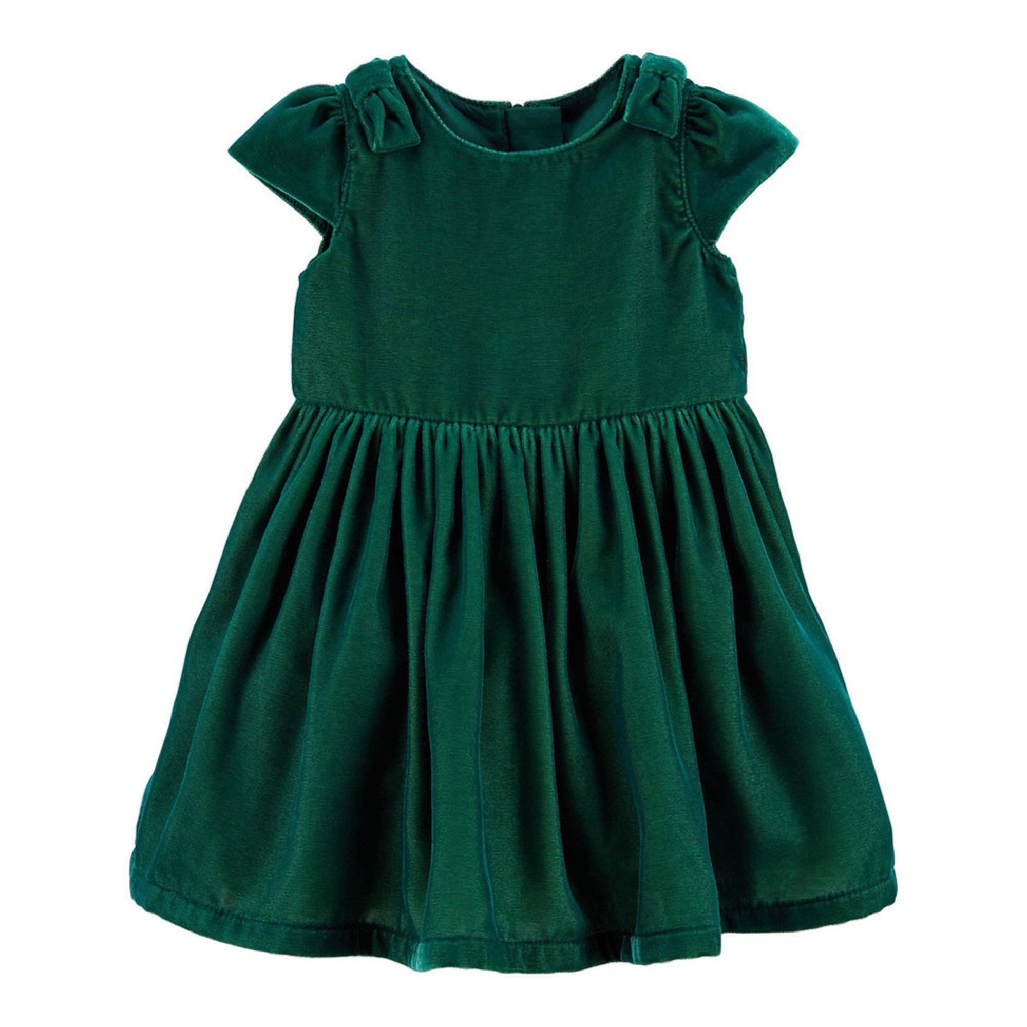 3735657fb Carter's Baby Girls' Holiday Bow Velvet Dress | Baby Girls' Dresses ...