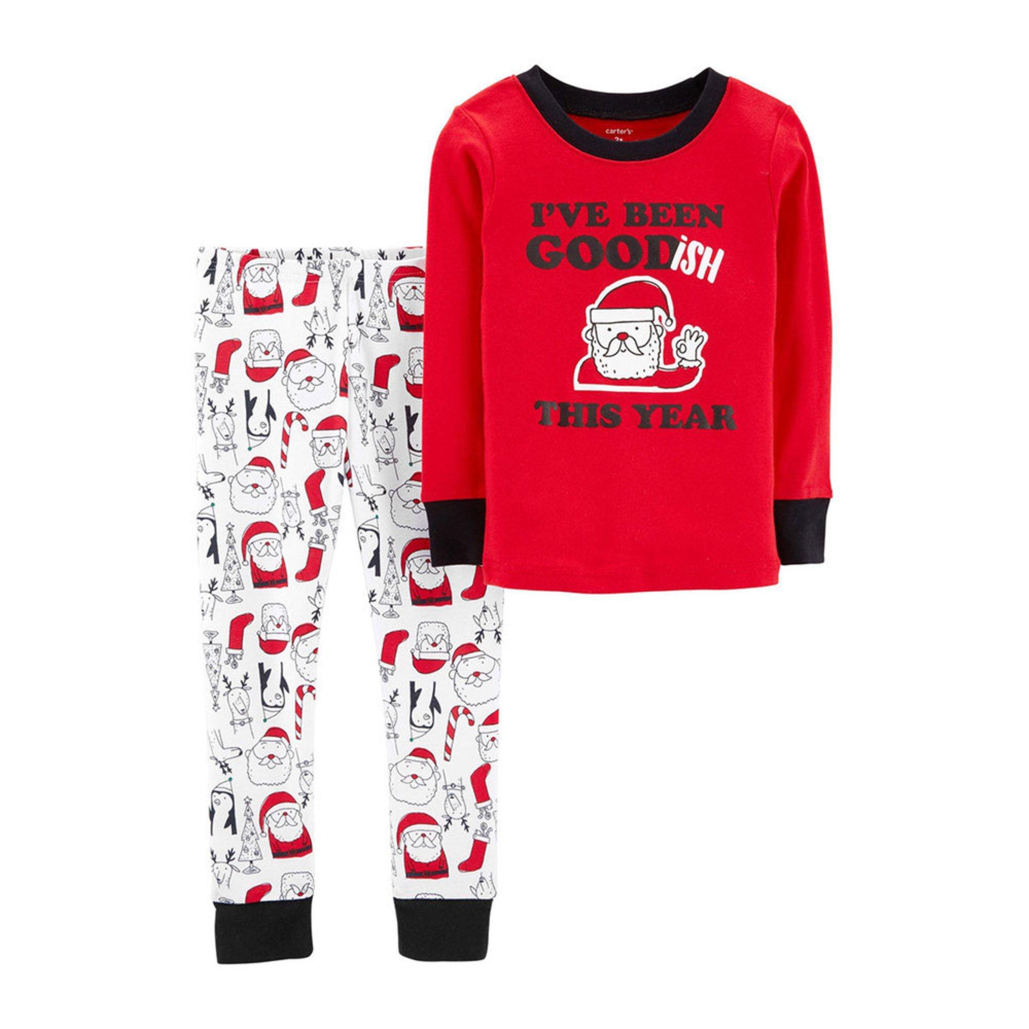 f9d934e60 Carter s Baby Boys  Goodish 2-piece Holiday Pajamas Set