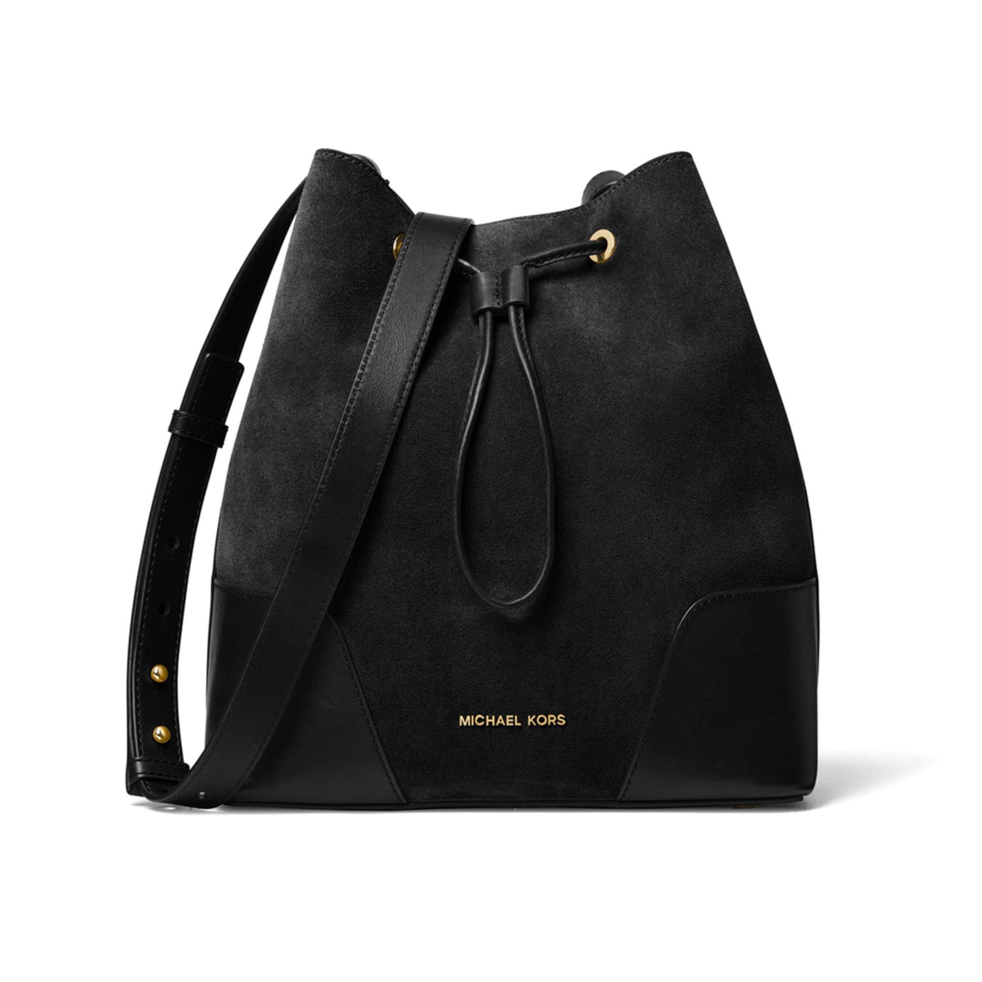 26a61eeebb78 Michael Kors Cary Medium Suede Bucket Bag | Crossbody & Messenger ...