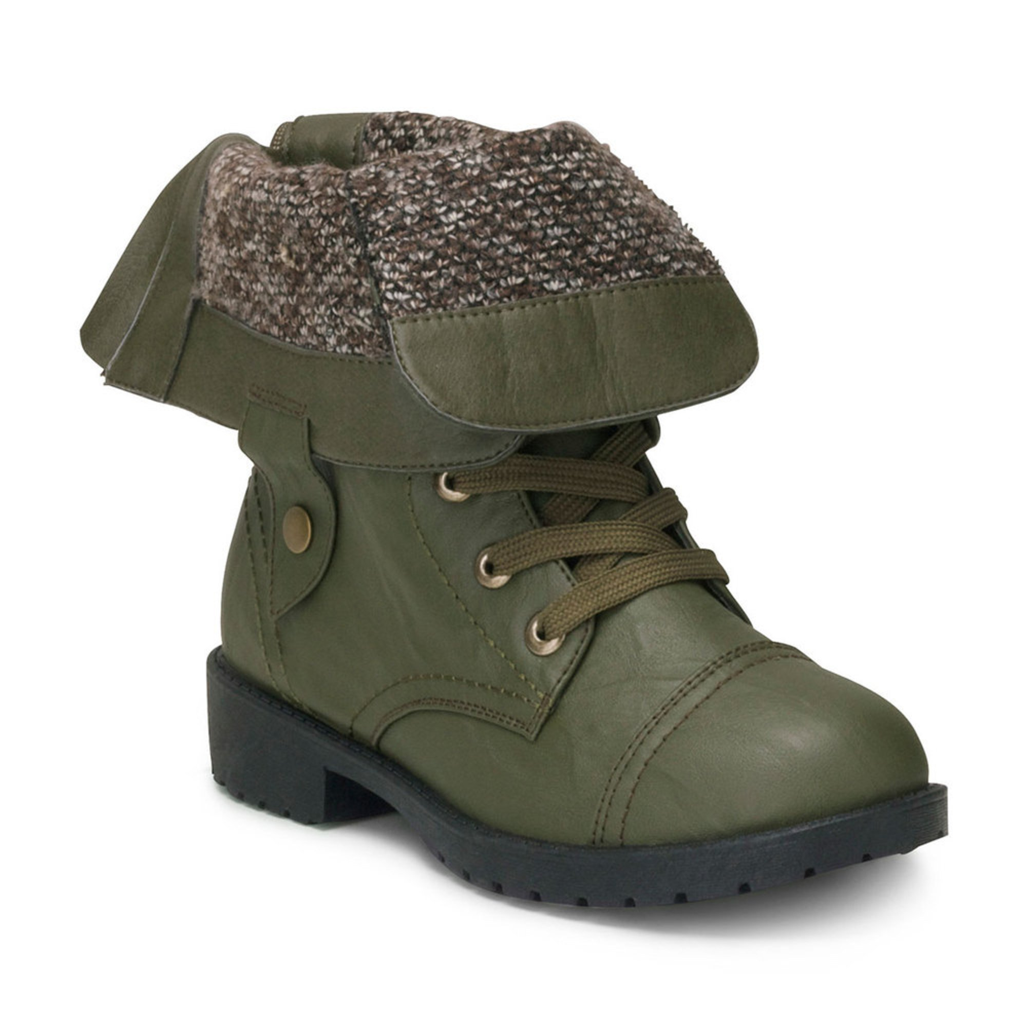 Wanted Womens Colorado Combat Sweater Cuff Bootie Womens Boots