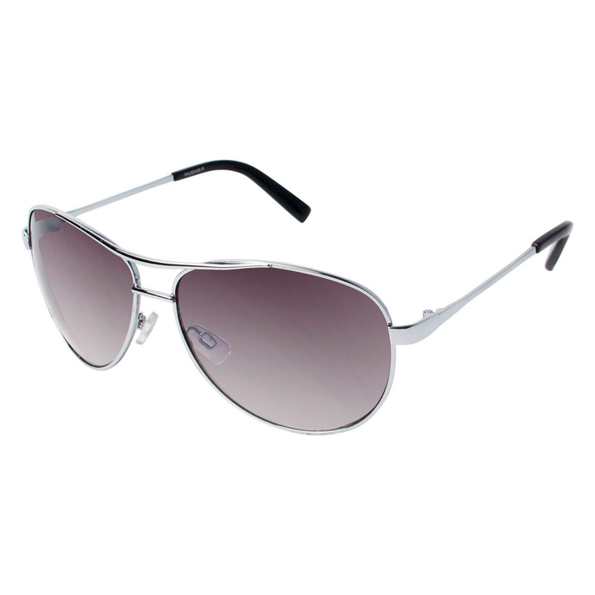 8a93ea740b52c Eagle Eyes. Jessica Simpson Classic Aviator Silver Sunglasses 62mm