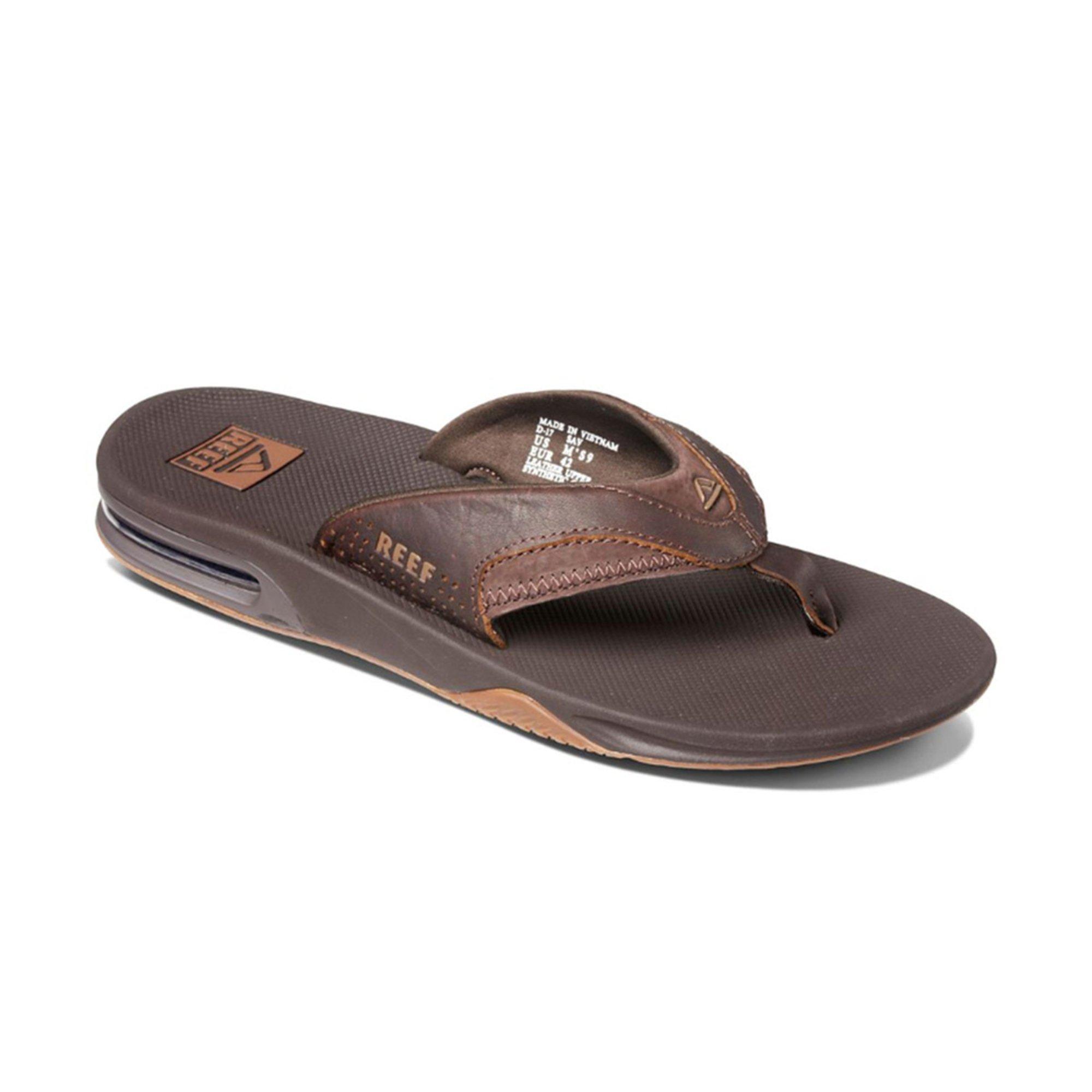 32da5391bee2 Reef Men s Leather Fanning Waterproof Sandal