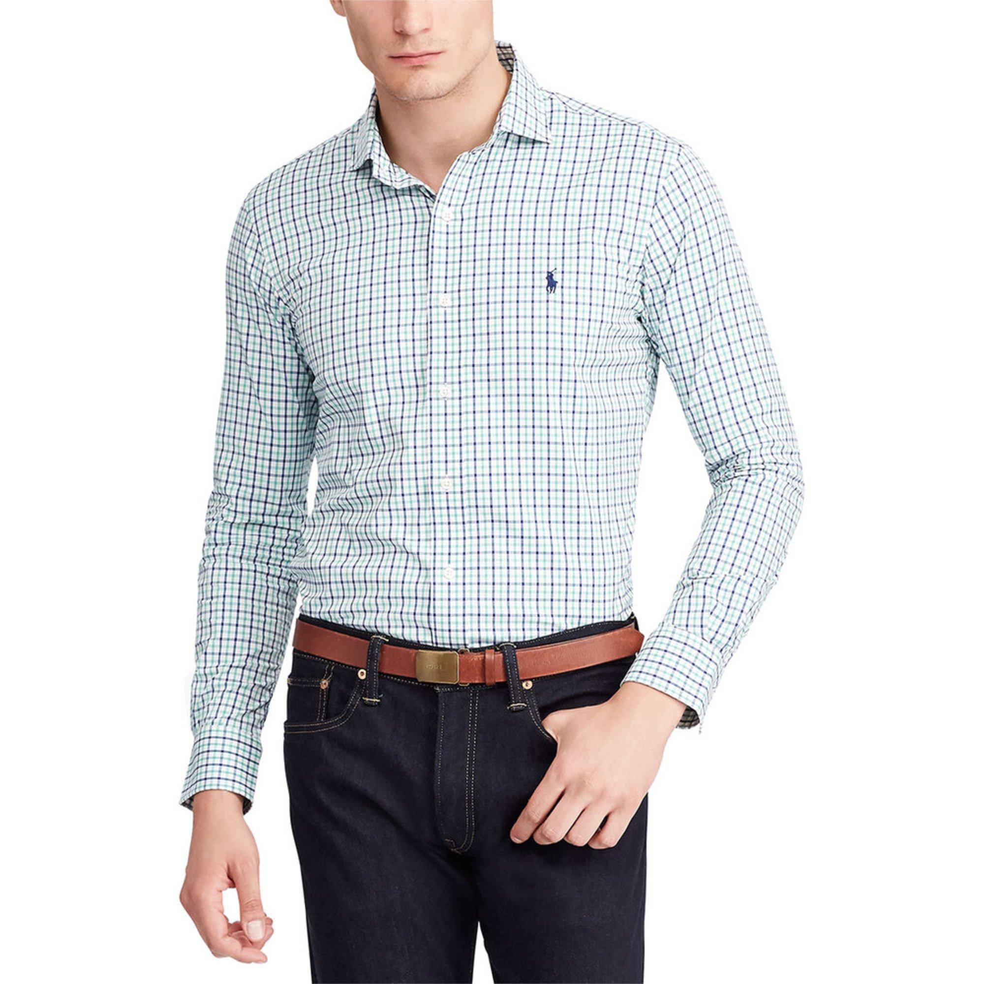 6843528c4 Polo Ralph Lauren. Polo Ralph Lauren Men s Long Sleeve Performance Twill  Plaid Sport Shirt