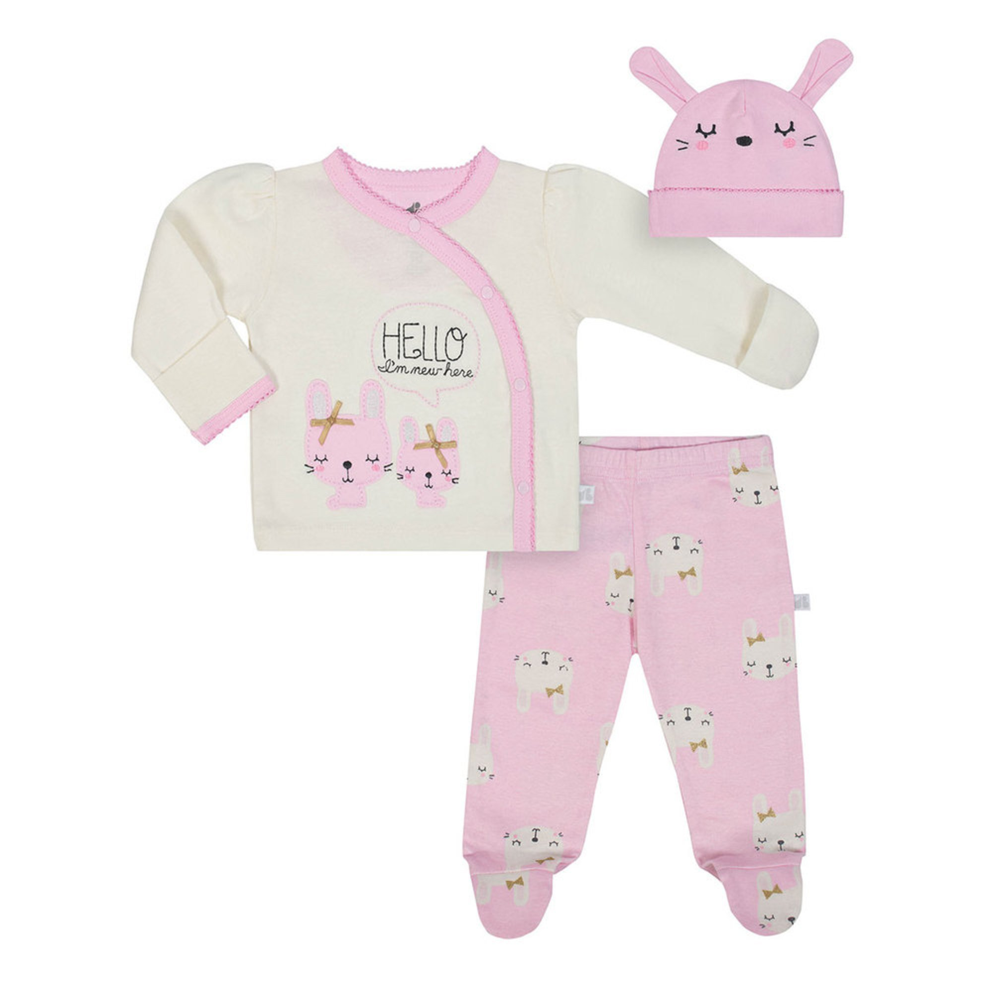 90448c988 Just Born Baby Girls  Organic 3-piece Take Me Home Set