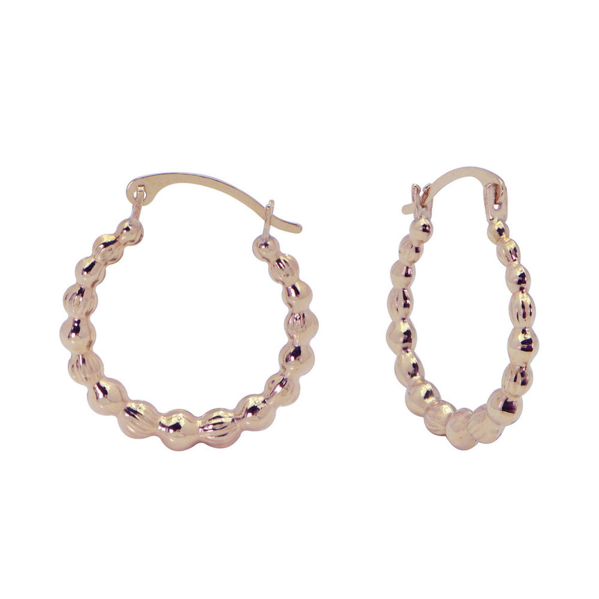Hoop Earrings, 14K