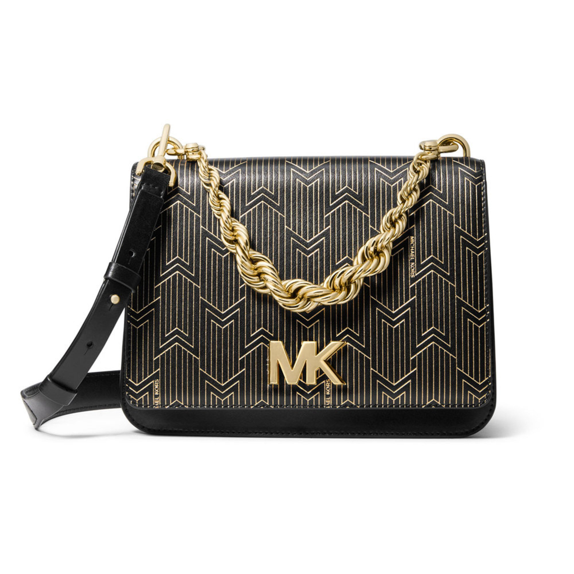 ccd8265df98b2 Michael Kors Mott Large Chain Swing Shoulder