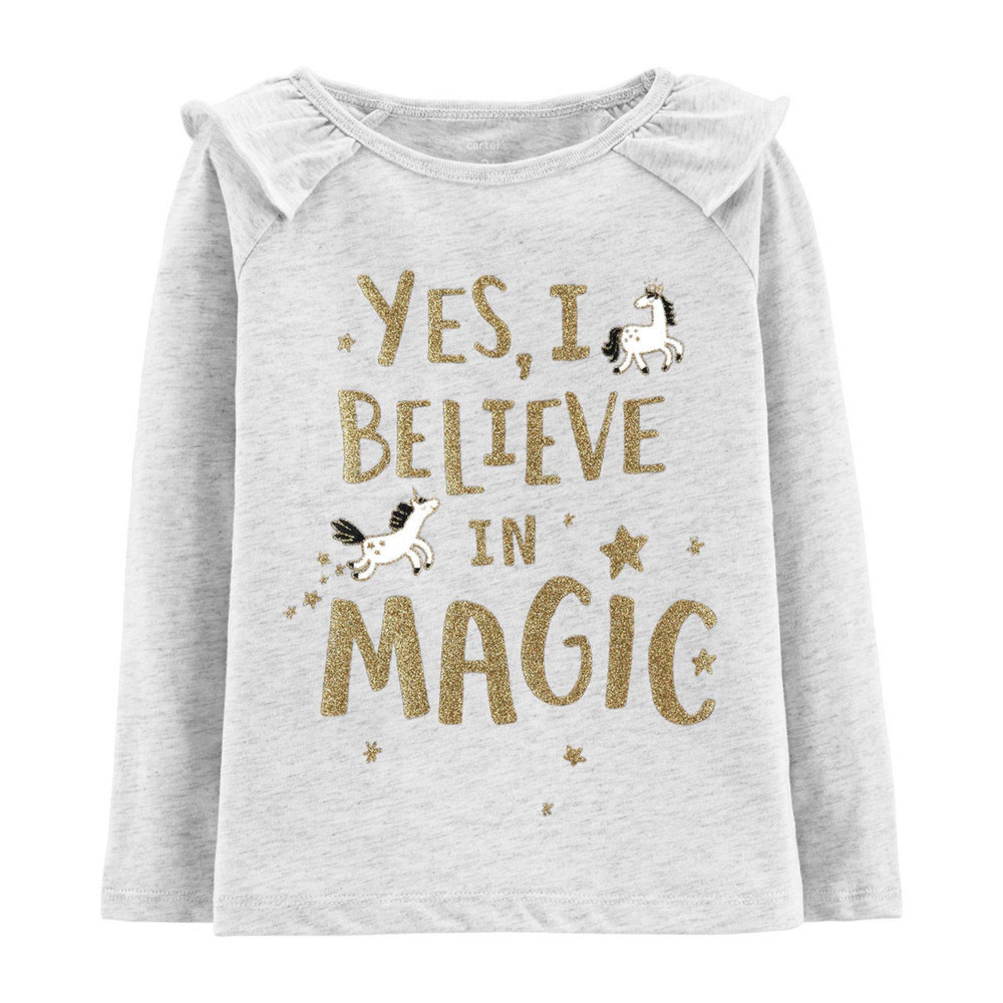 ea0a05c1 Carter's Toddler Girls' Believe In Magic Tee   Little Girls' Tops ...