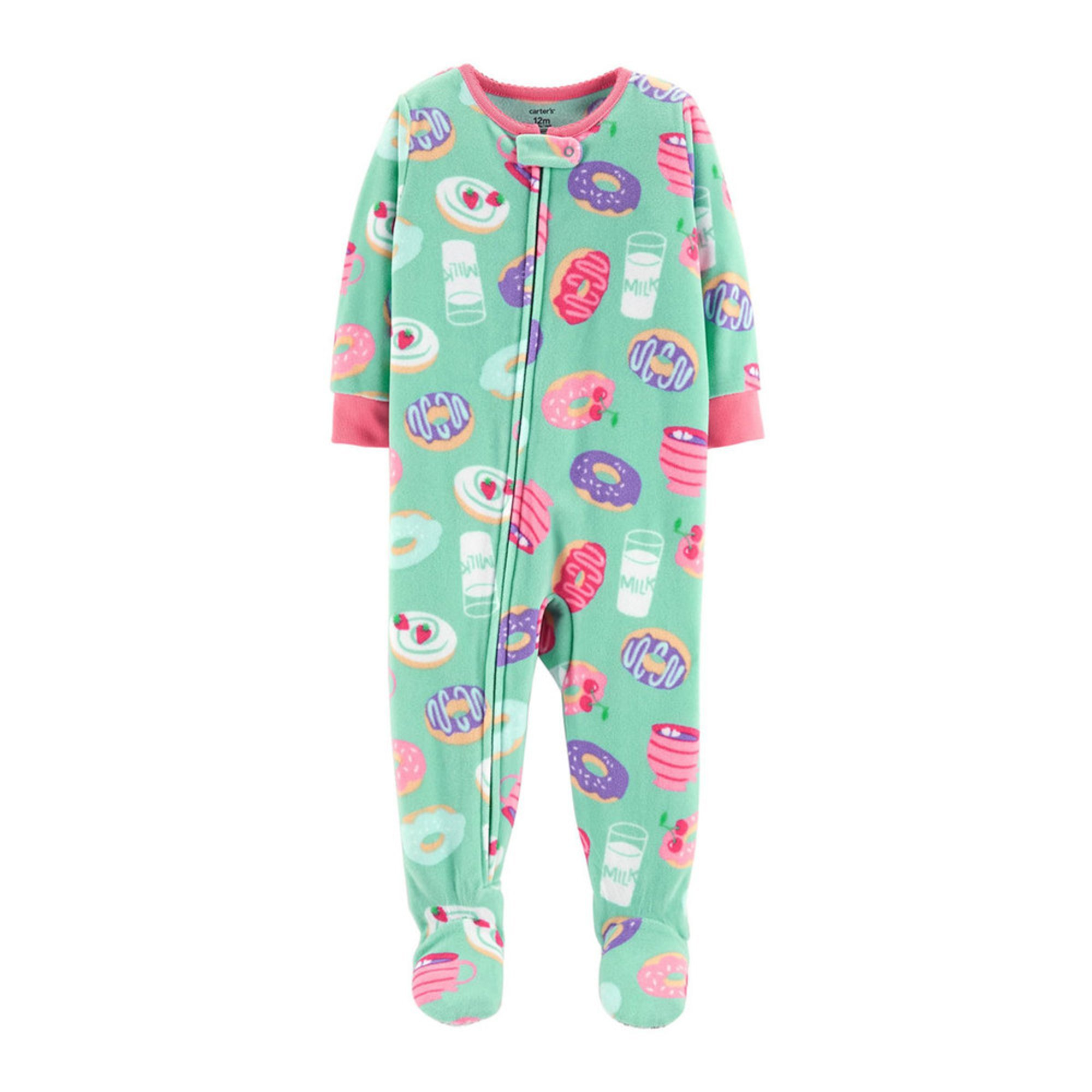 c2b932fa8 Carters  Little Girls  1 Piece Fleece Donut Pajamas