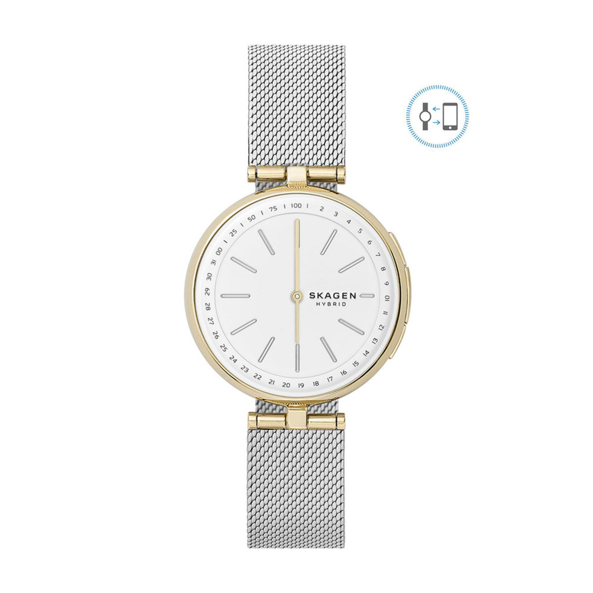 Skagen Women S Signatur T Bar Silk Mesh Hybrid Smartwatch 36mm