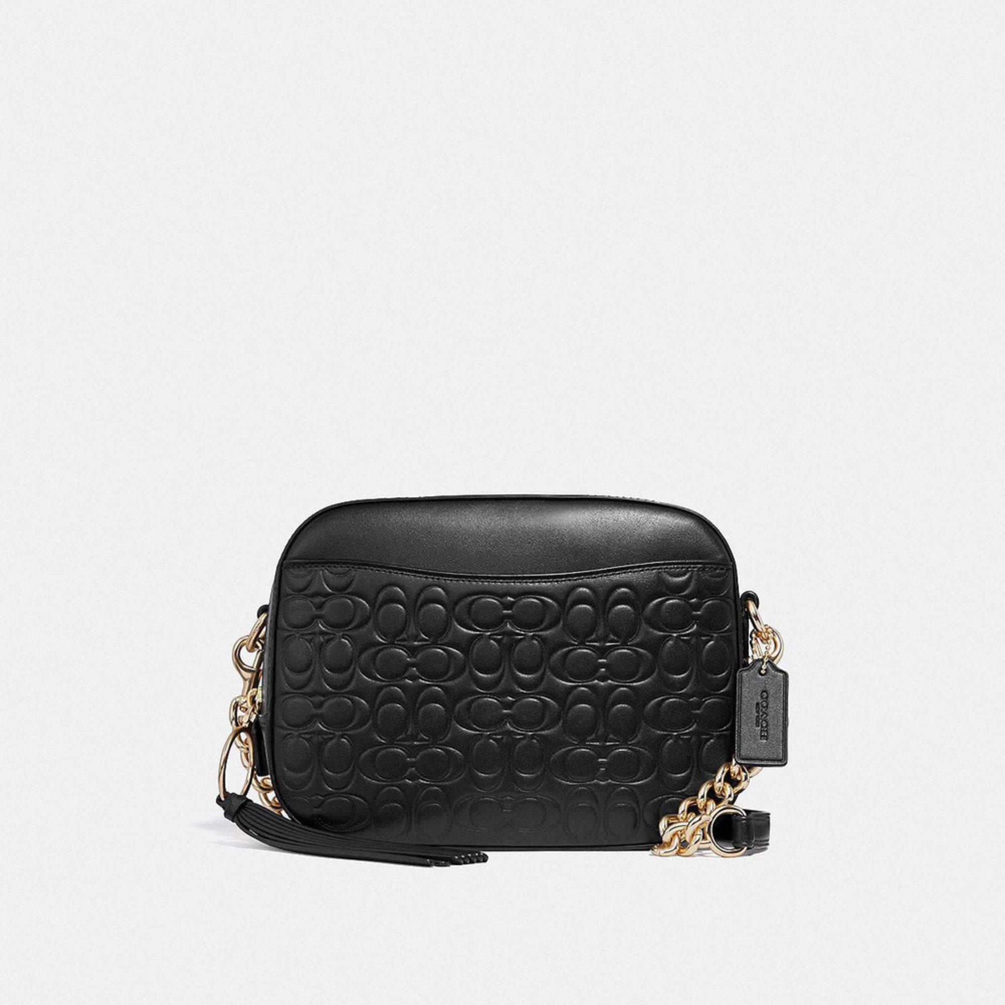 Coach Signature Leather Camera Bag