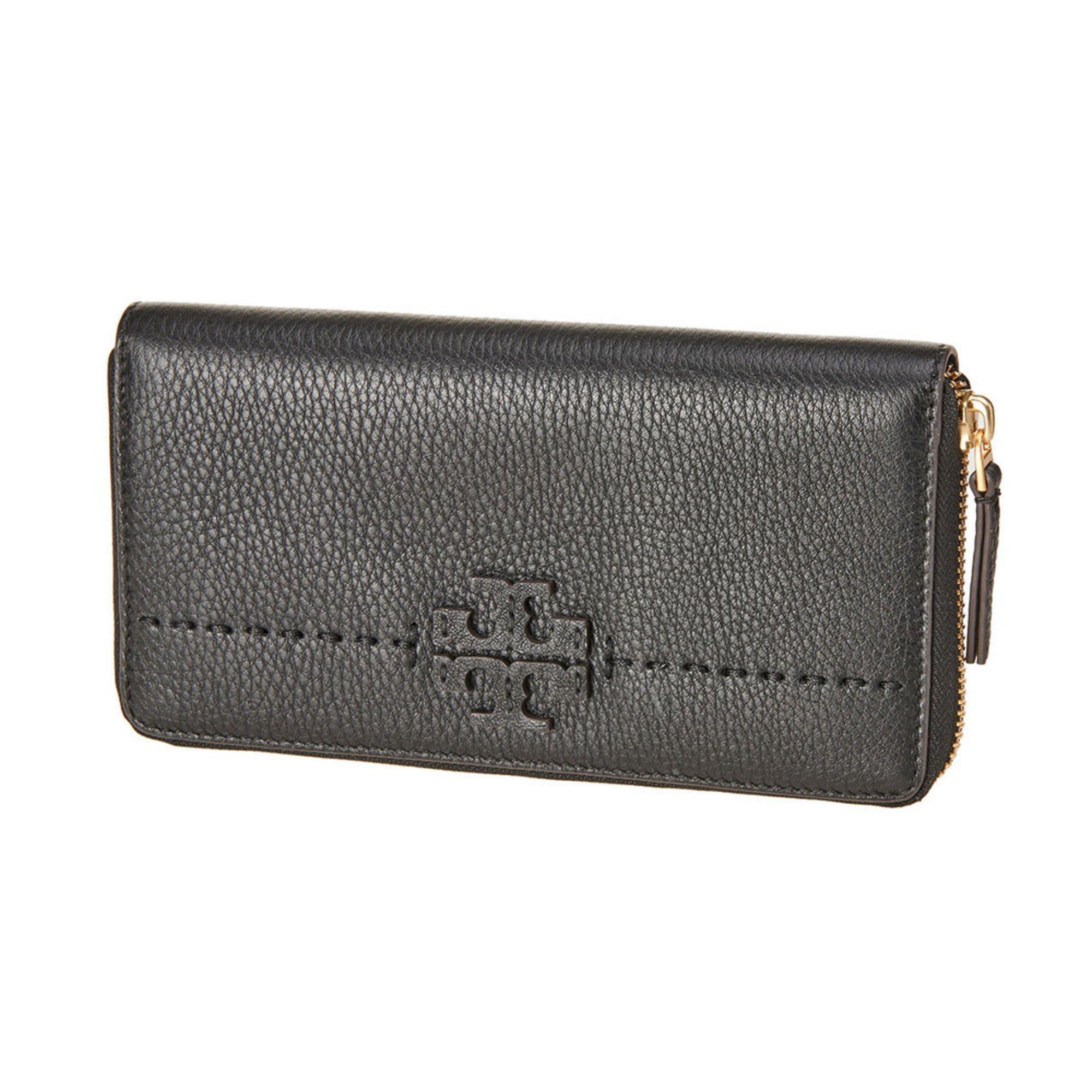 6658ed32c8 Tory Burch Mcgraw Zip Continental Wallet Black