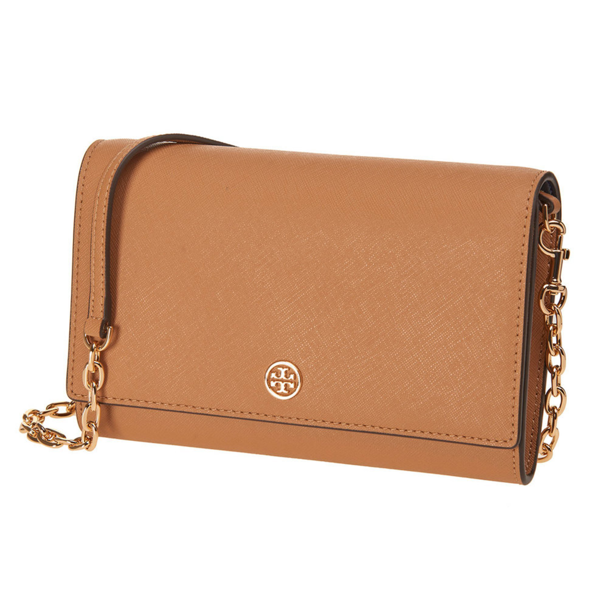 9d2a388abf4 Tory Burch Robinson Chain Wallet Black royal Navy