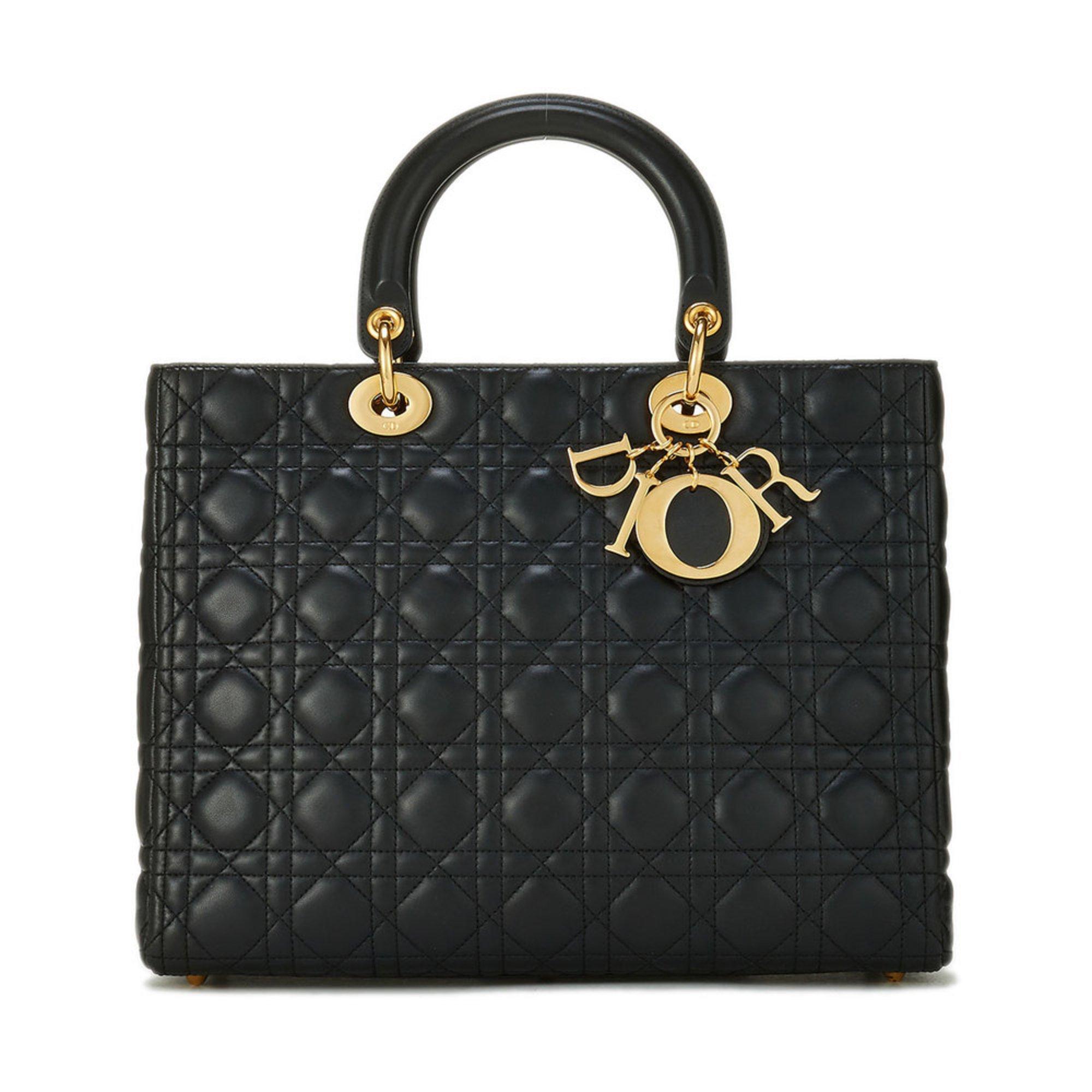 b389d0e8b1a61 Dior Lamb Lady Dior Large Black