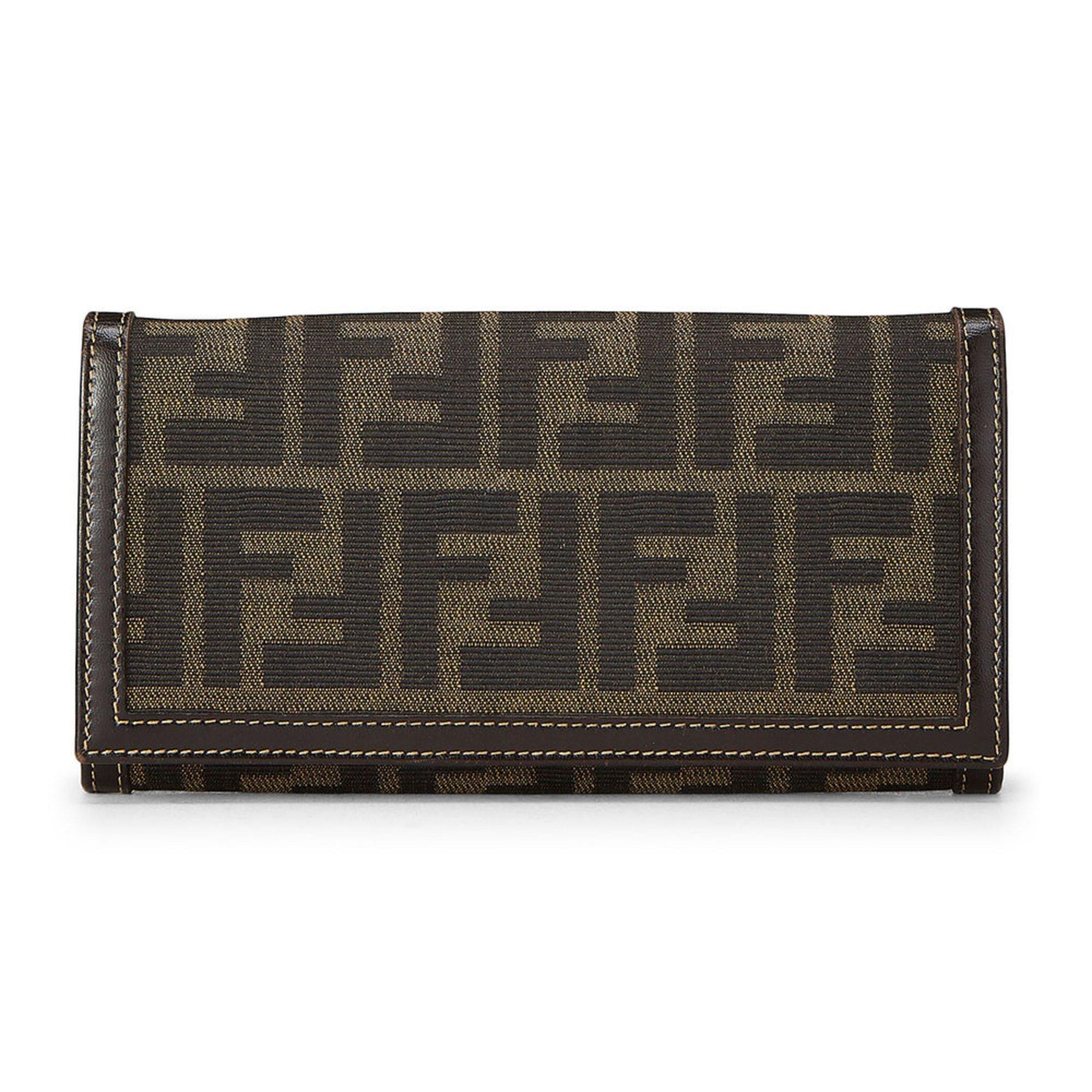 Fendi Zucca Long Wallet Brown  516e2f0e59989