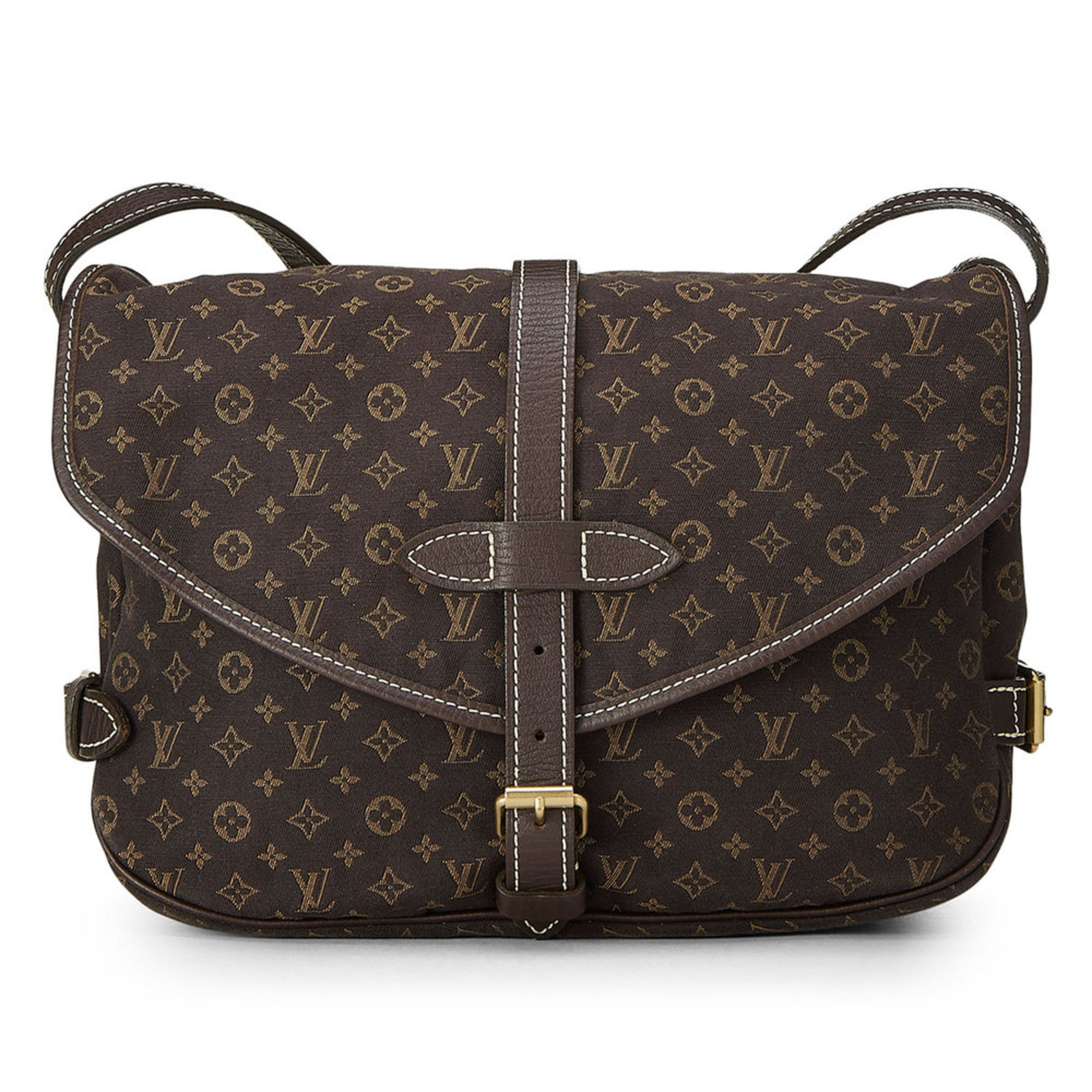 50d6e4ade665 Louis Vuitton Mini Lin Saumur Pm Brown