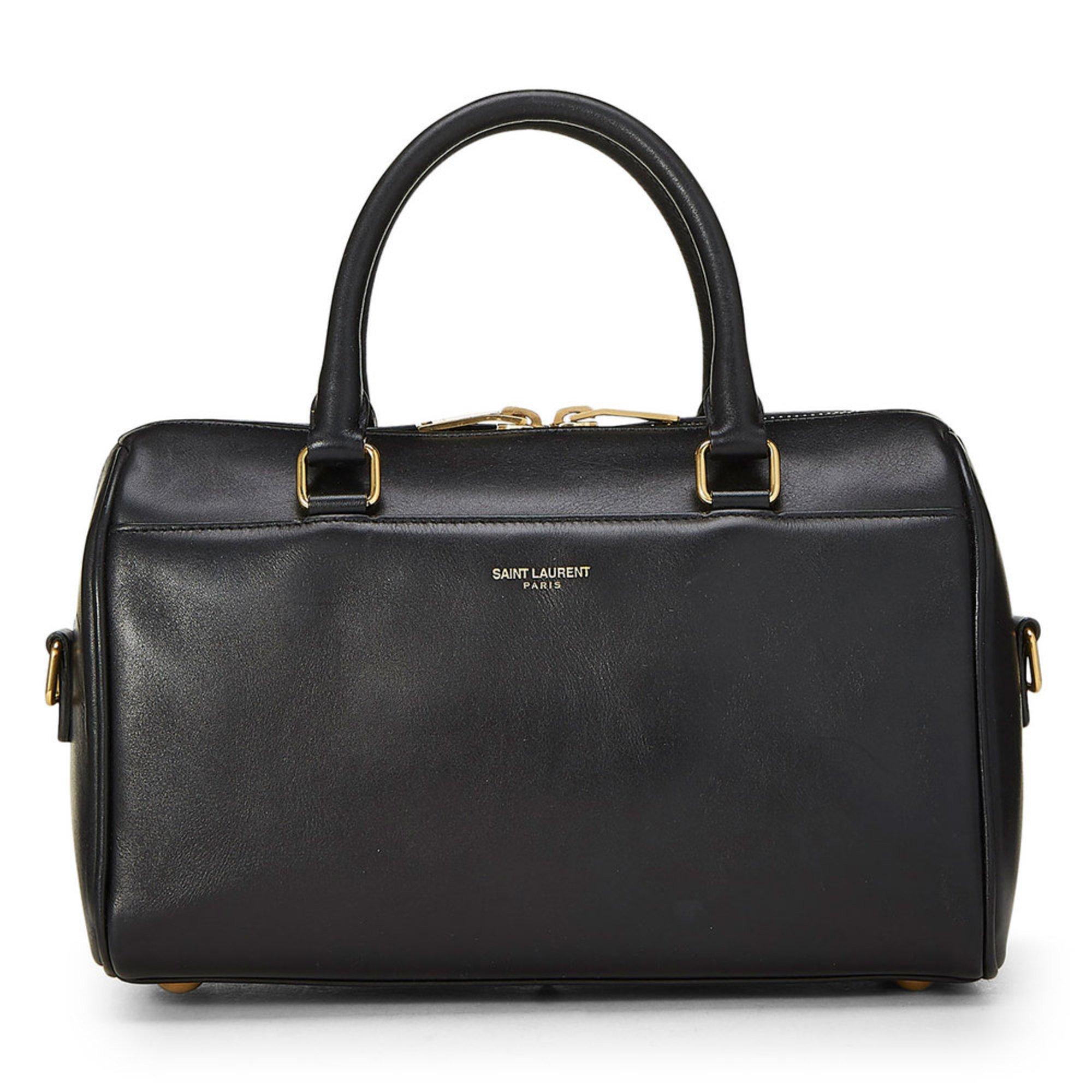 Ysl Leather Classic Duffle Black  28ac0e54ed