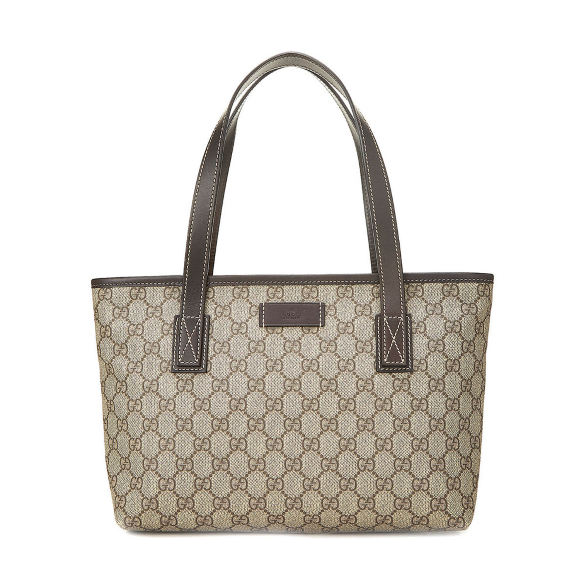 88c8d871d745 Gucci Coated Canvas Gg Plus Tote Brown