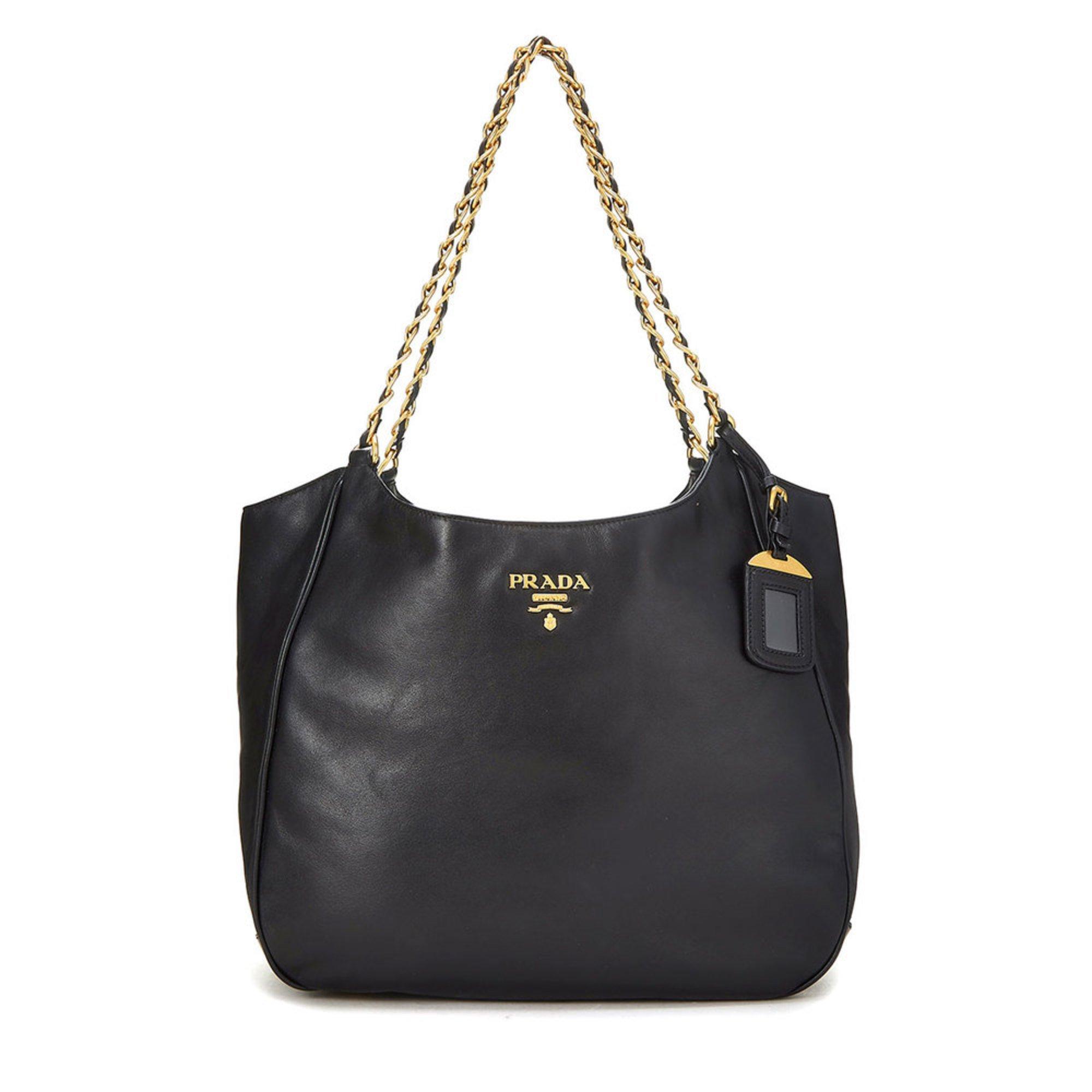 c3a8c1d46076 Prada Leather Tote Black