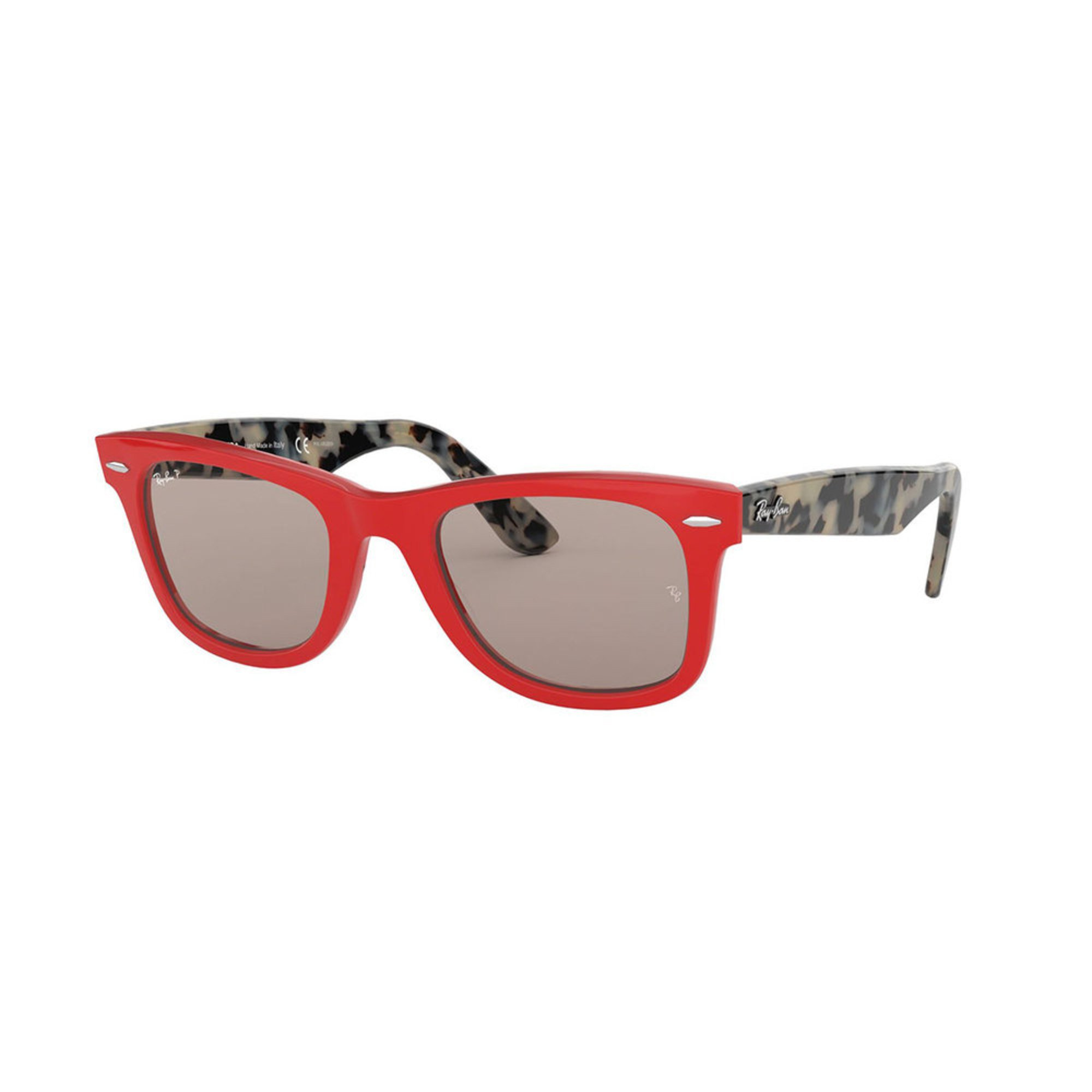 07ffd5e3f78dc ... italy rayban unisex original wayfarer red grey polarized sunglasses  50mm bde9c 14b51