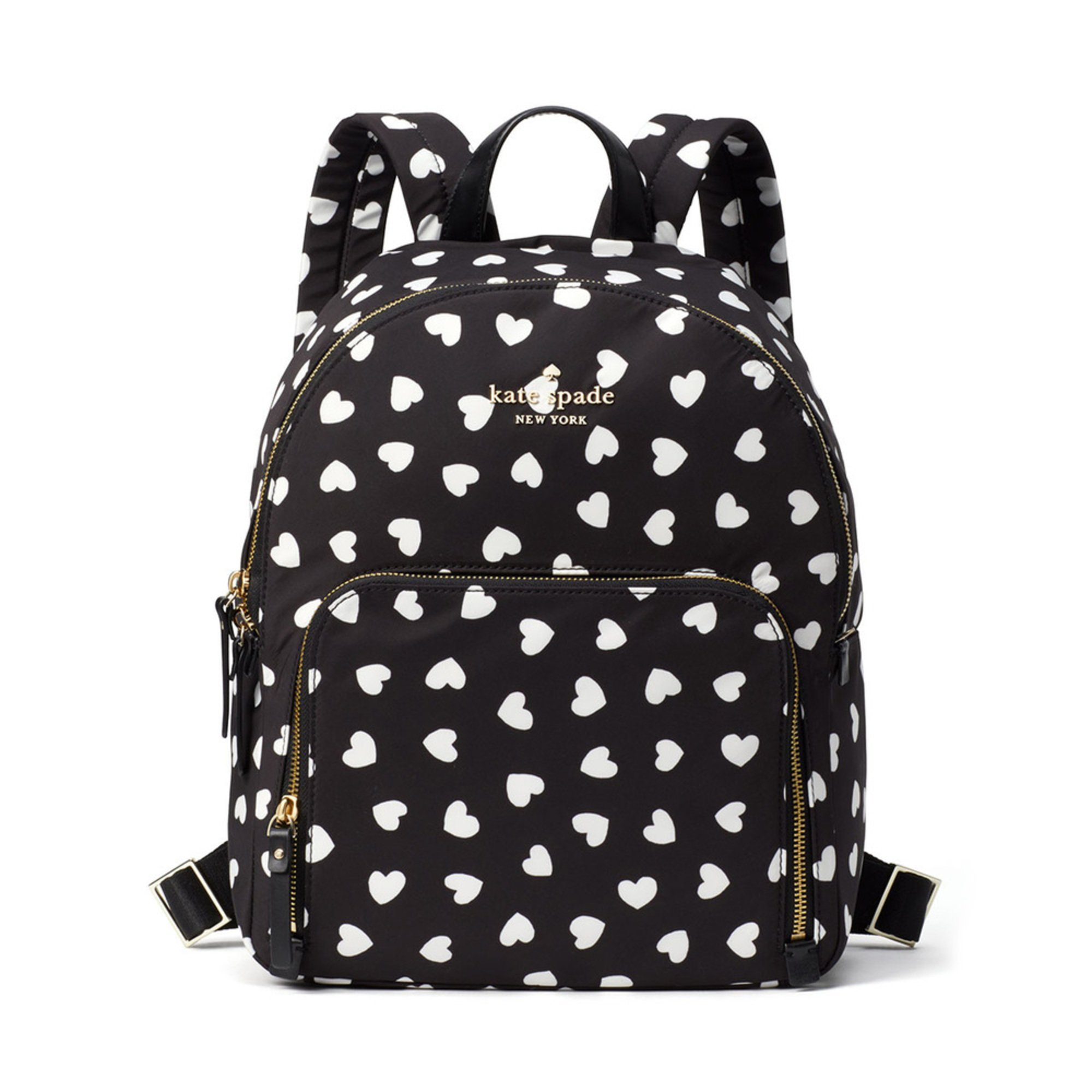 Three Tampa Prep Students Present To American Society Of: Kate Spade Watson Hearts Hartley Backpack Black/cream