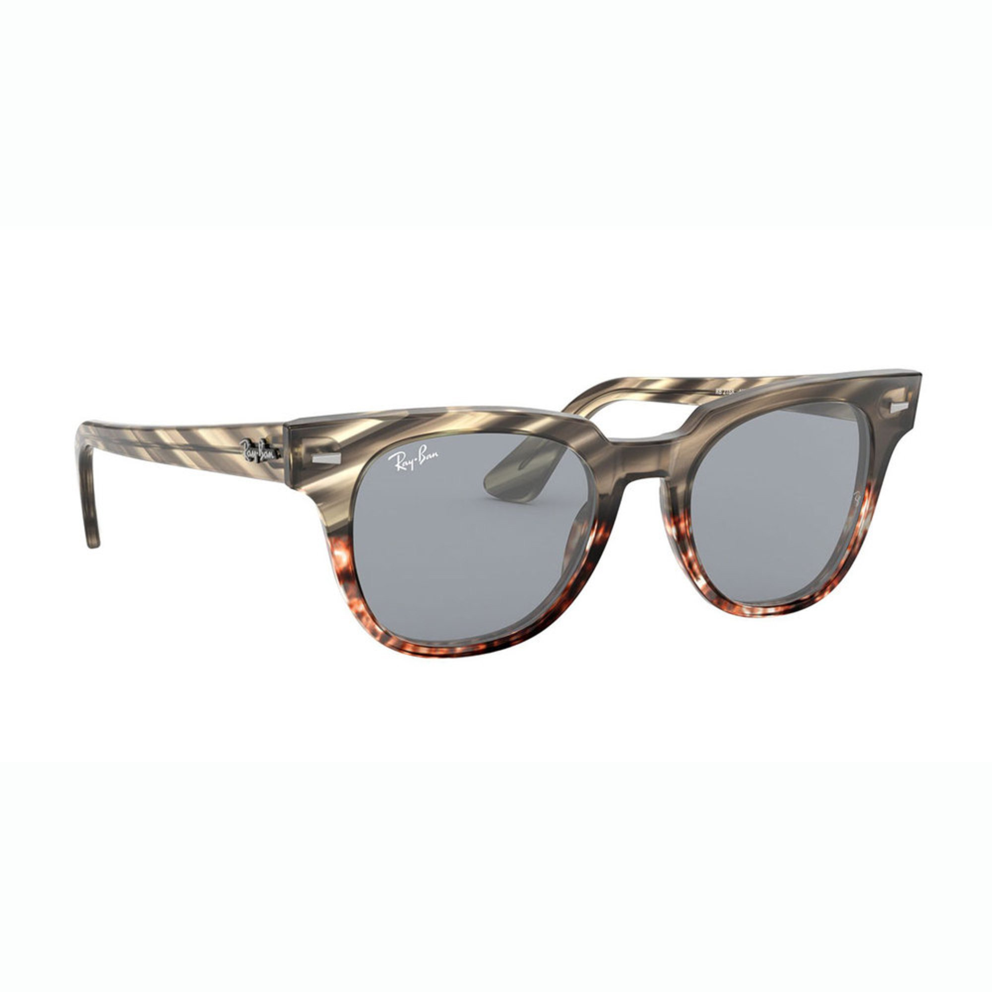 781419360d Ray-Ban. Ray-Ban Unisex Grey Gradient Brown Stripped Sunglasses 50mm
