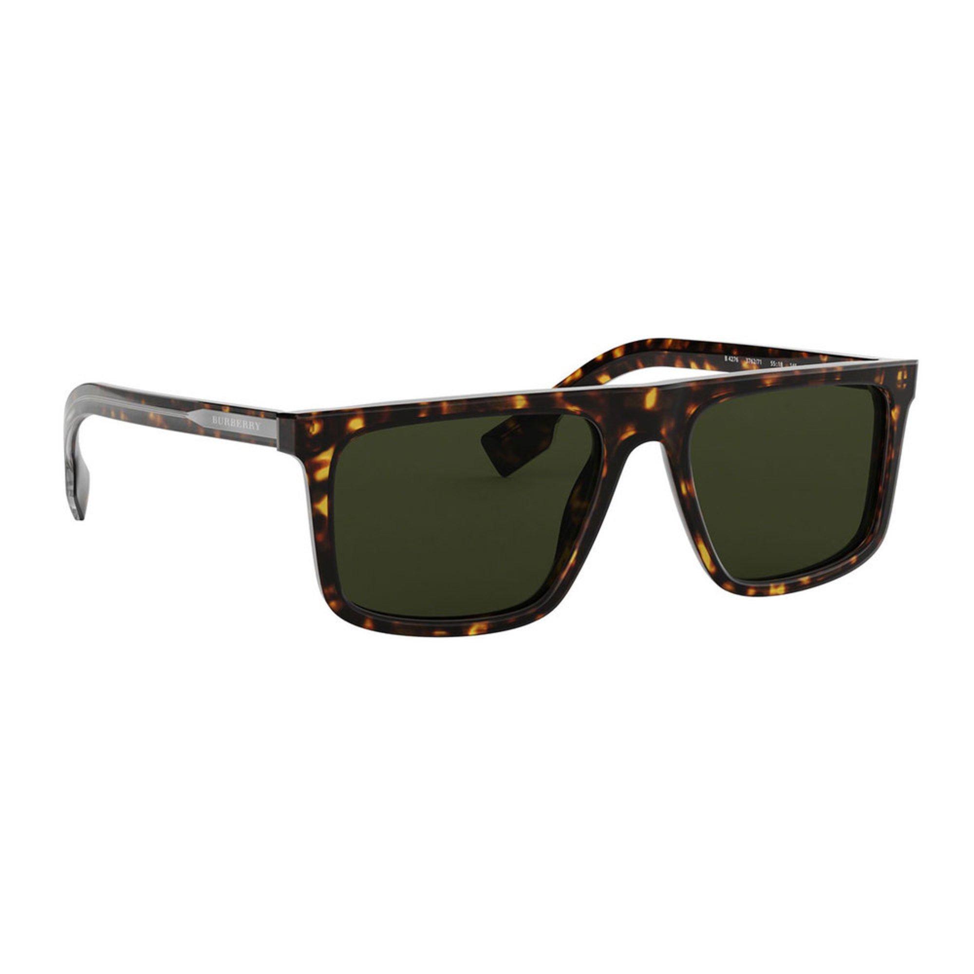 755f7f4faf9 Burberry Men's Green Dark Havana Sunglasses 55mm   Men's Sunglasses ...