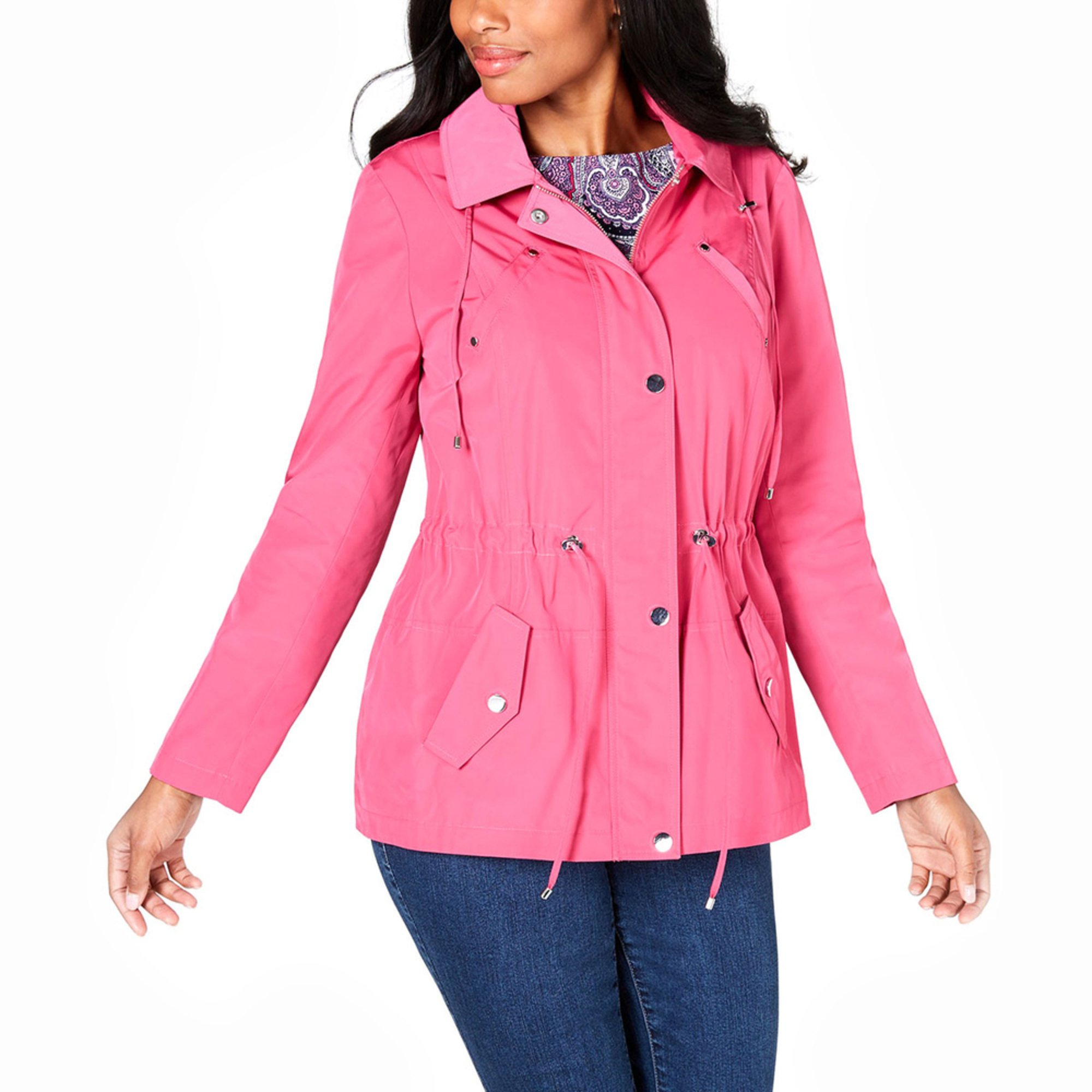 2c13a72b5aff Charter Club Women's Drawstring Anorak Jacket | Casual & Dress ...