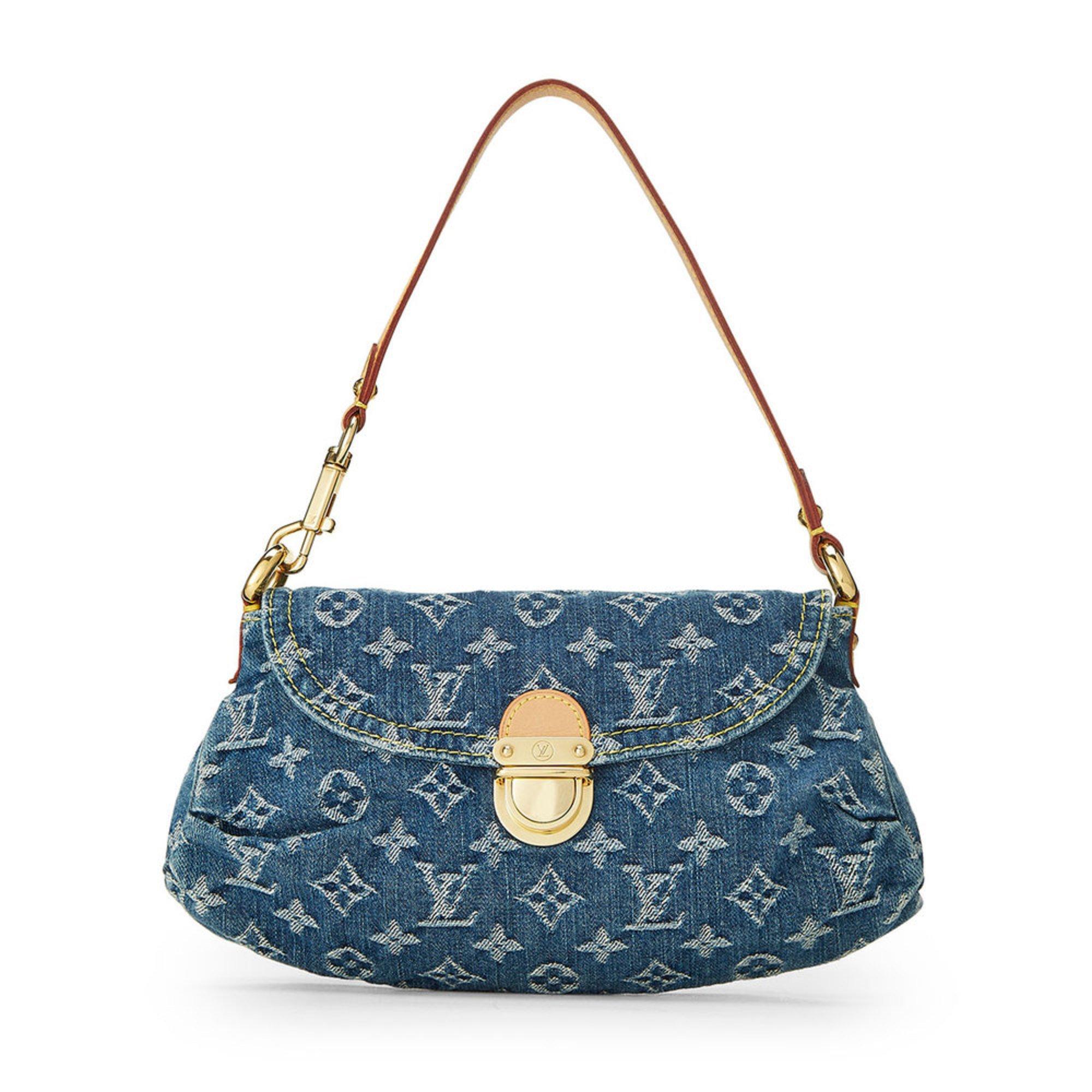 e0e0ae7af37 Louis Vuitton Blue Denim Pleaty Mini