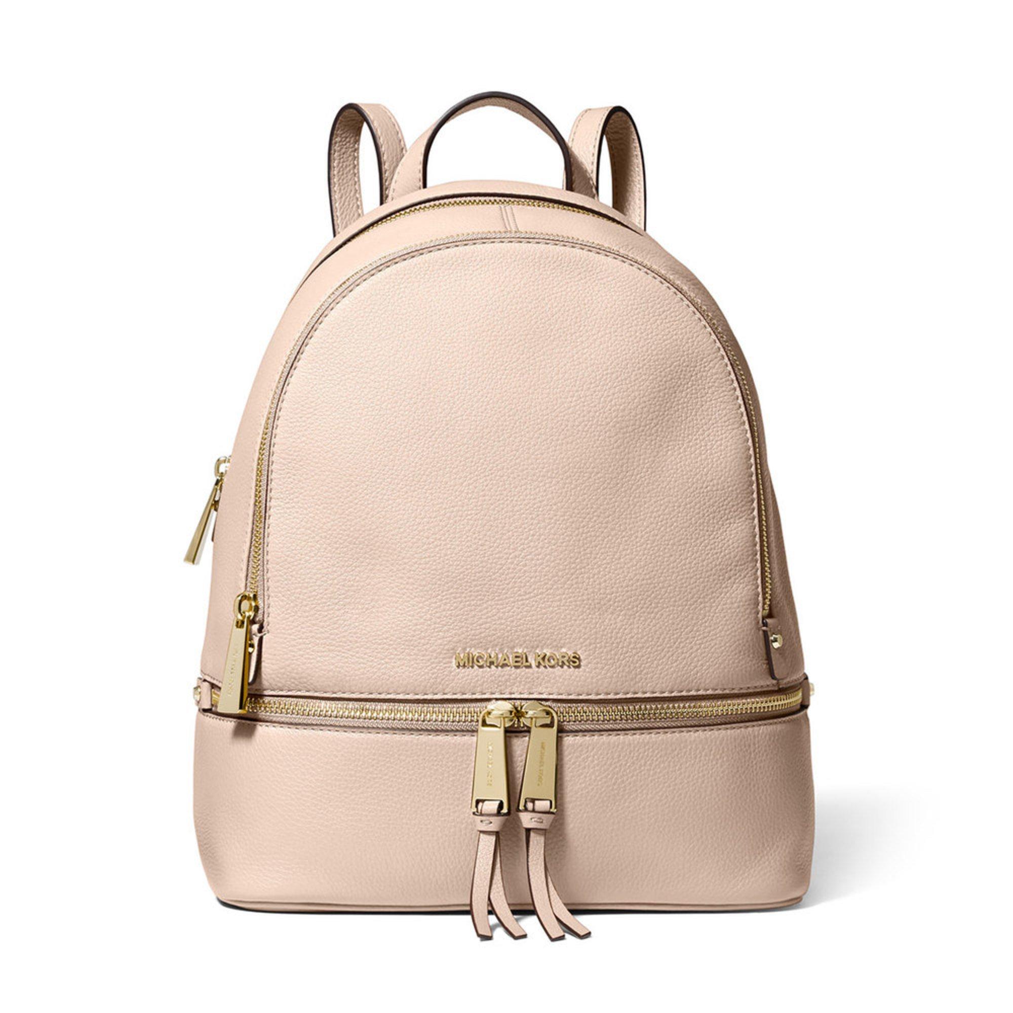 3b6994c5dc3723 Michael Kors Rhea Zip Medium Backpack Soft Pink | Women's Backpacks ...