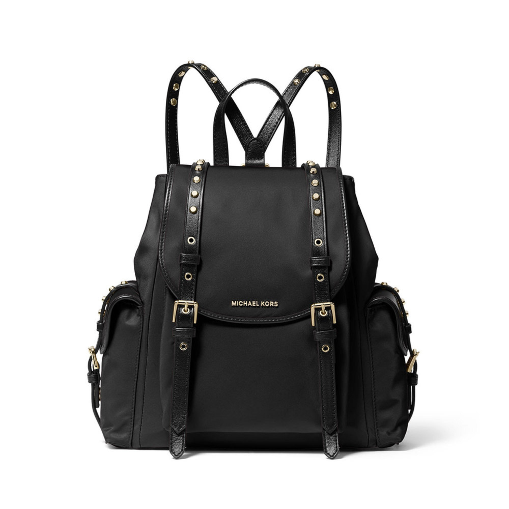 c22d0b56828a Michael Kors Leila Small Flap Backpack Black | Women's Backpacks ...