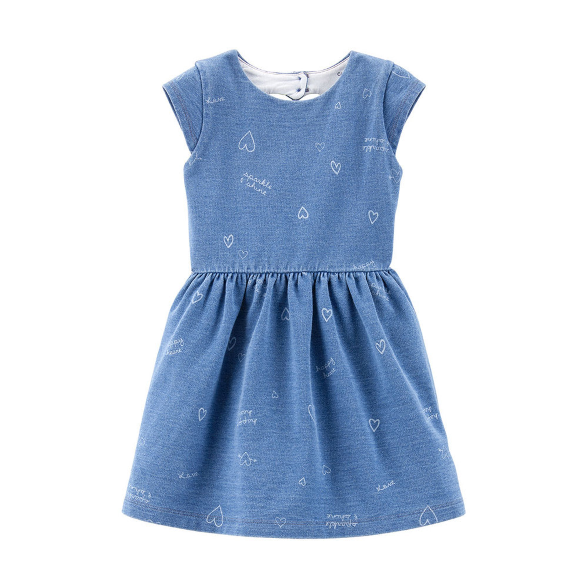 3a2b57eb5 Carters Toddler Girls Cap Sleeve All Over Heart Print Back Cut Out ...