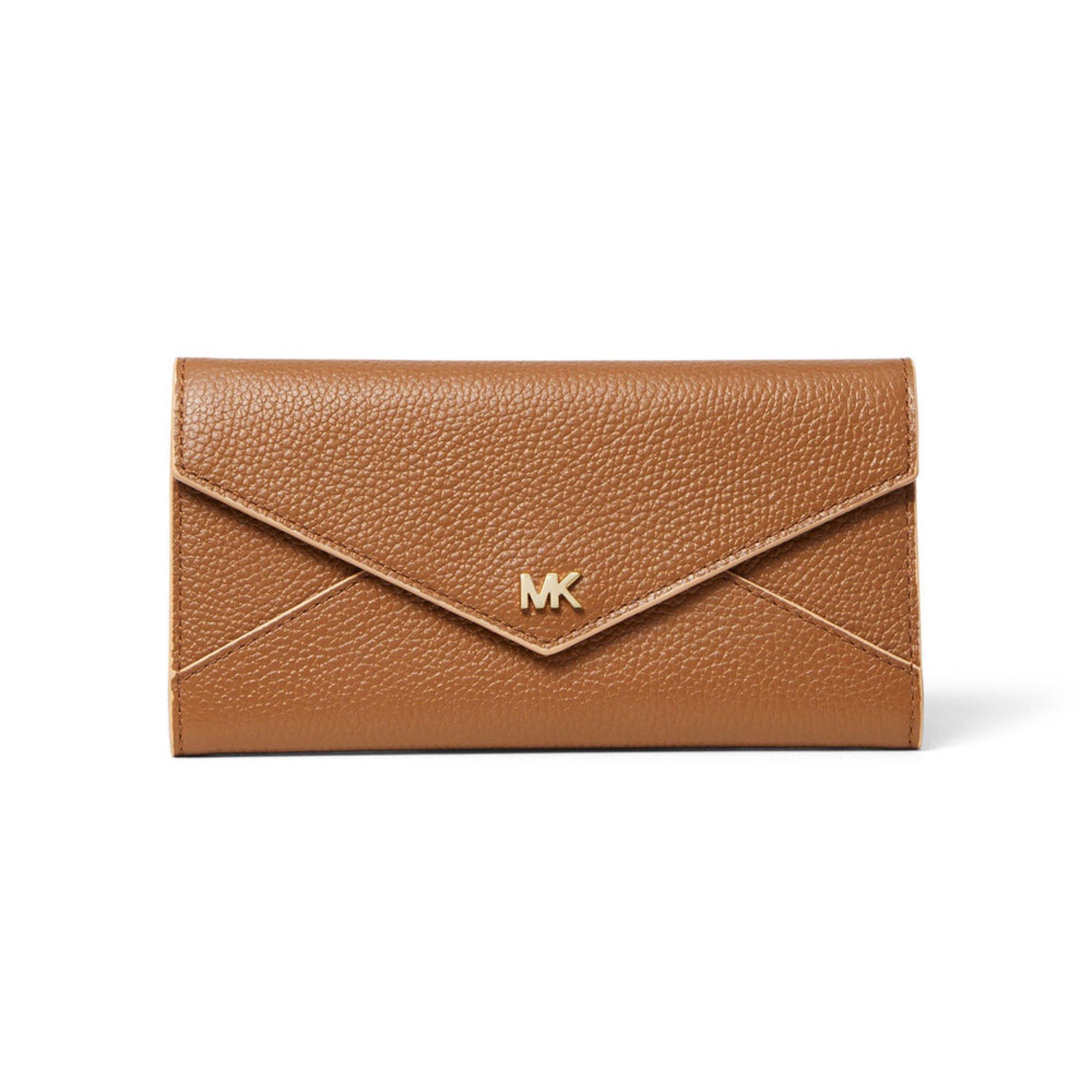 b7d7a876515f Michael Kors. Michael Kors Large Slim Envelope Trifold Wallet Acorn/ Butternut
